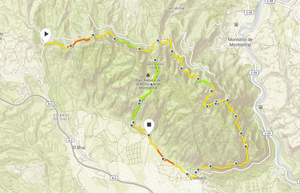Turen blev ca 27-30 km och ca 1700 positiva och 2000 negativa höjdmeter.