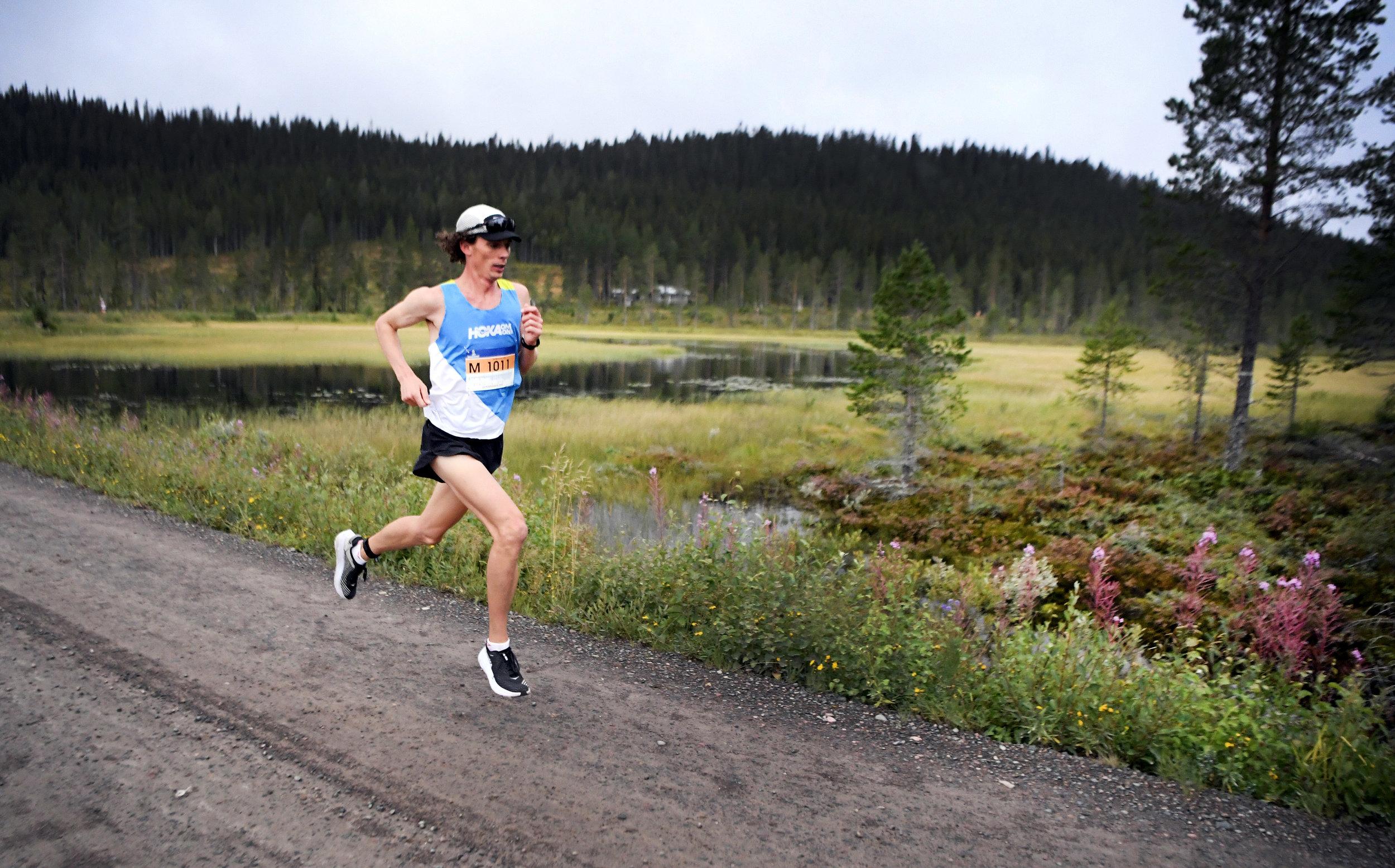 Jim Walmsley at Smågan. Photo credit  Vasaloppet