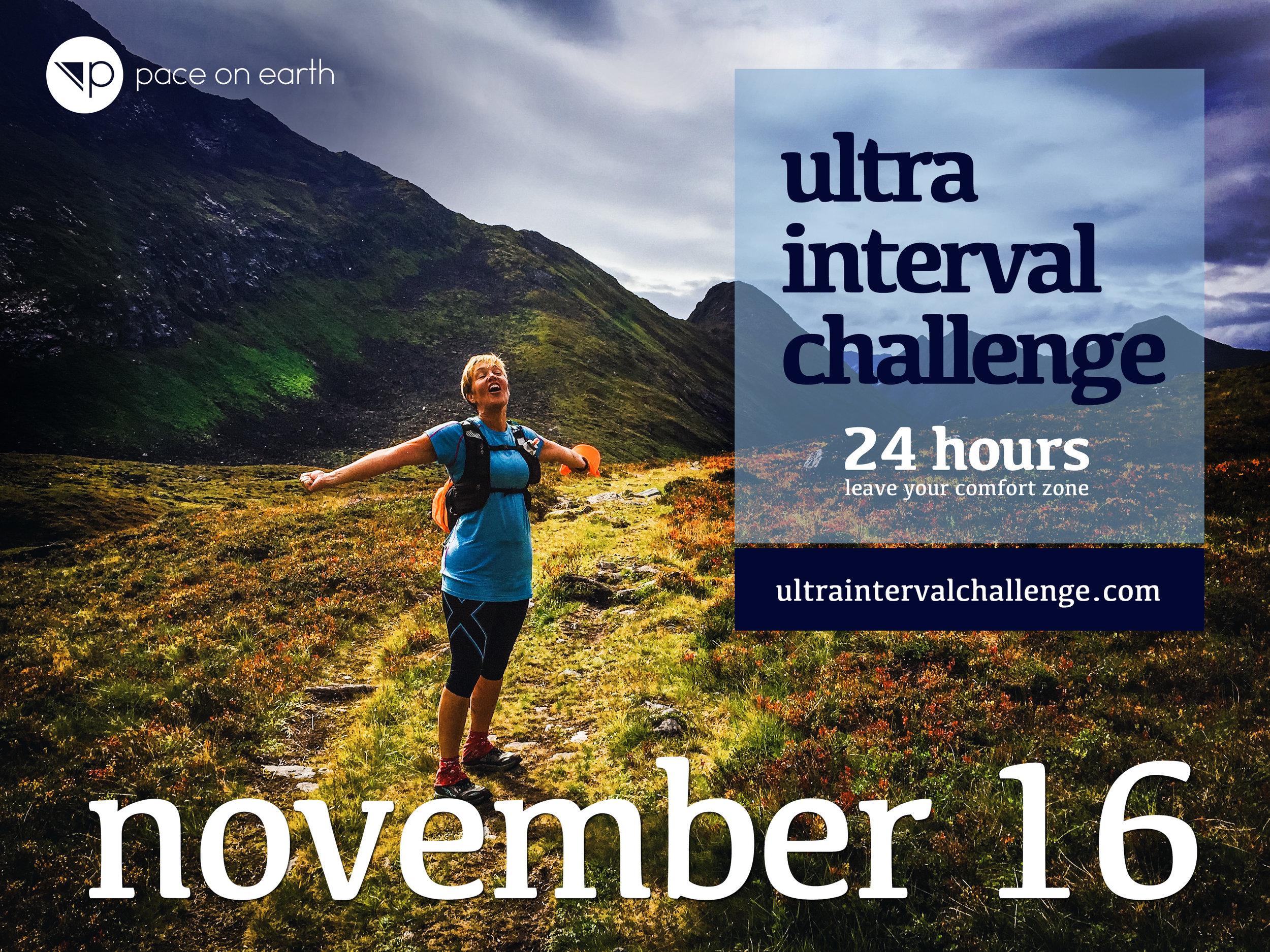 Dags för ultraintervaller igen! Anmäl dig på  Facebook-eventet.  Mer info finns på  ultraintervalchallenge.com