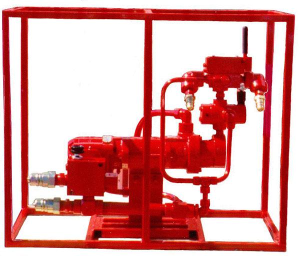 Motor-pump intensifier