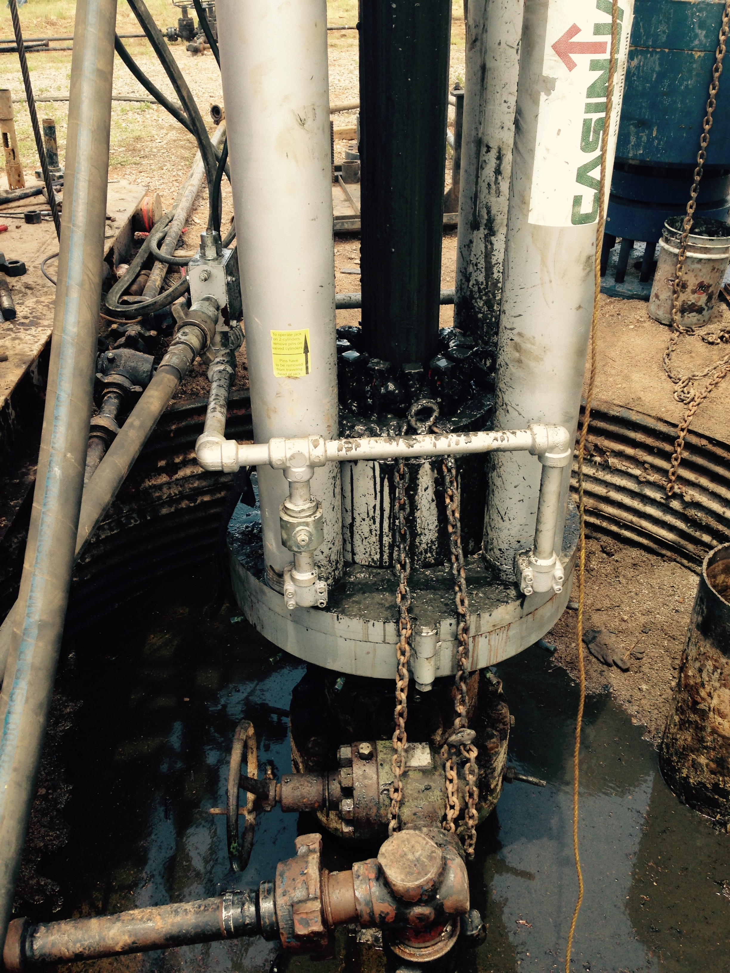 MODEL 282 CASING JACK FLANGE MOUNTED IN SHALLOW CELLAR