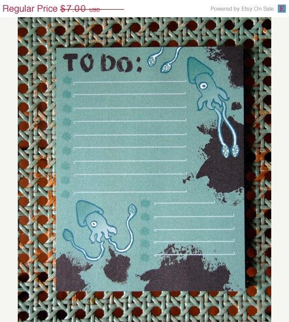 Squid notepad- just $5