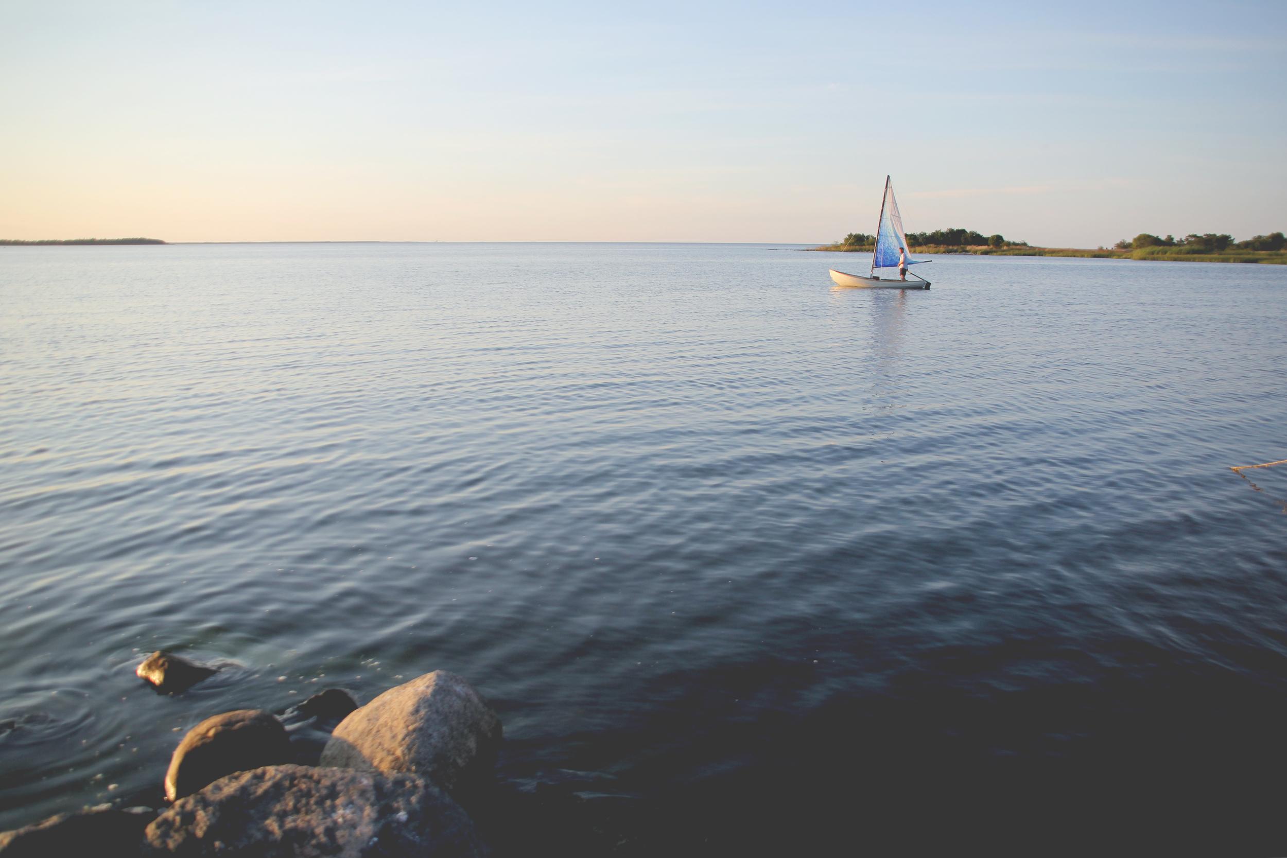 wax-on boat