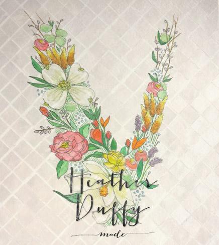 Heather Duffy Made | Monogram | Floral | V