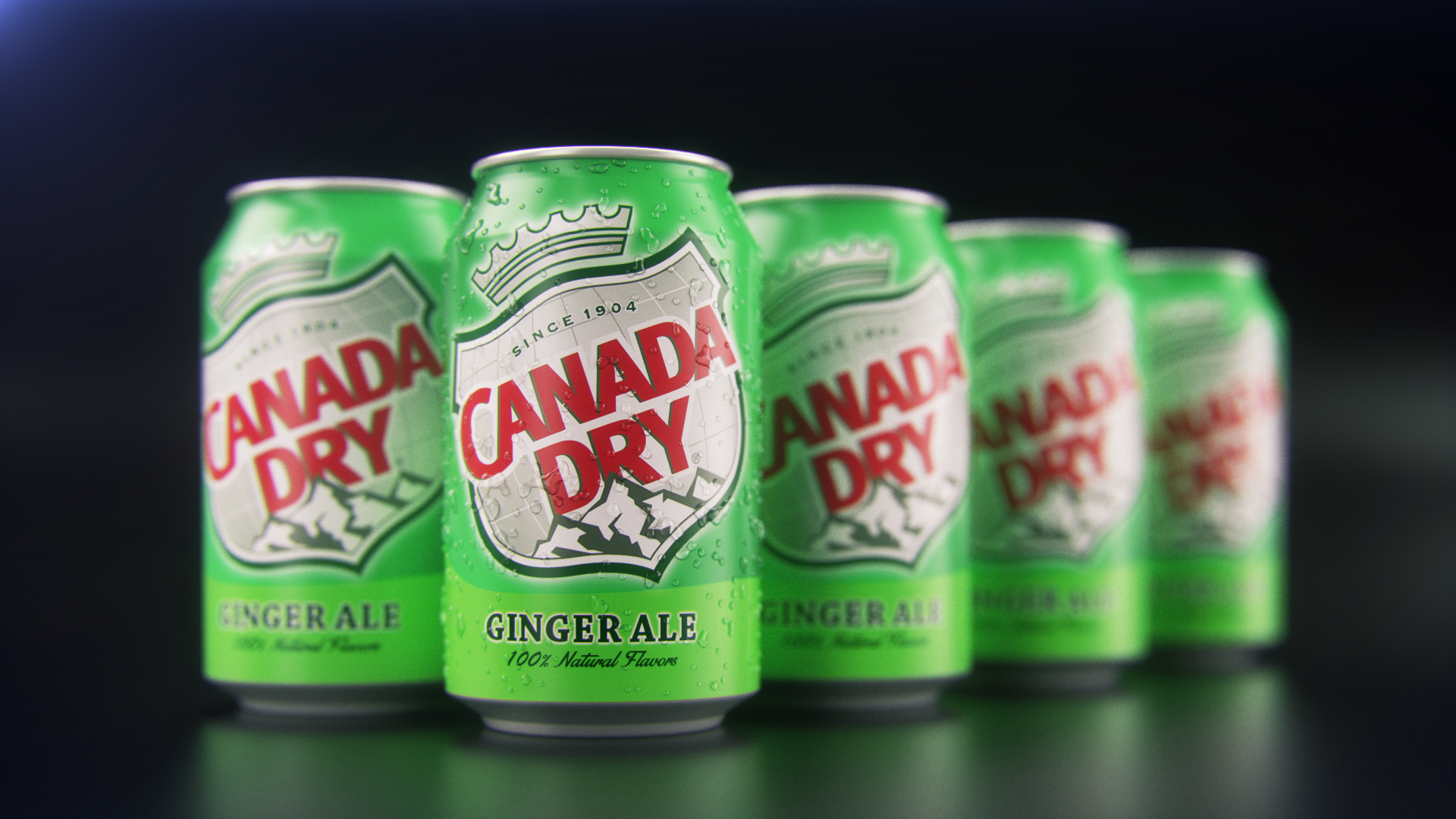 Canada dry packshot - Modeling and rendering with CInema 4d (Octane render) - post-production with After Effects