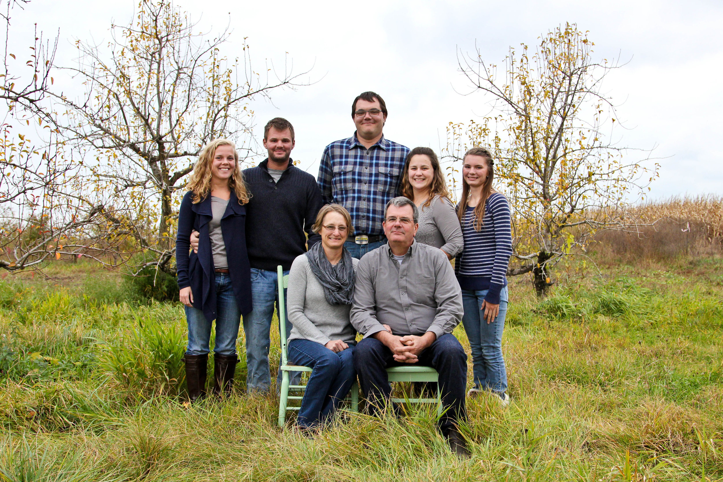 The Ellis Family on the farm 2015, picture courtesy of Ellis Family Farm