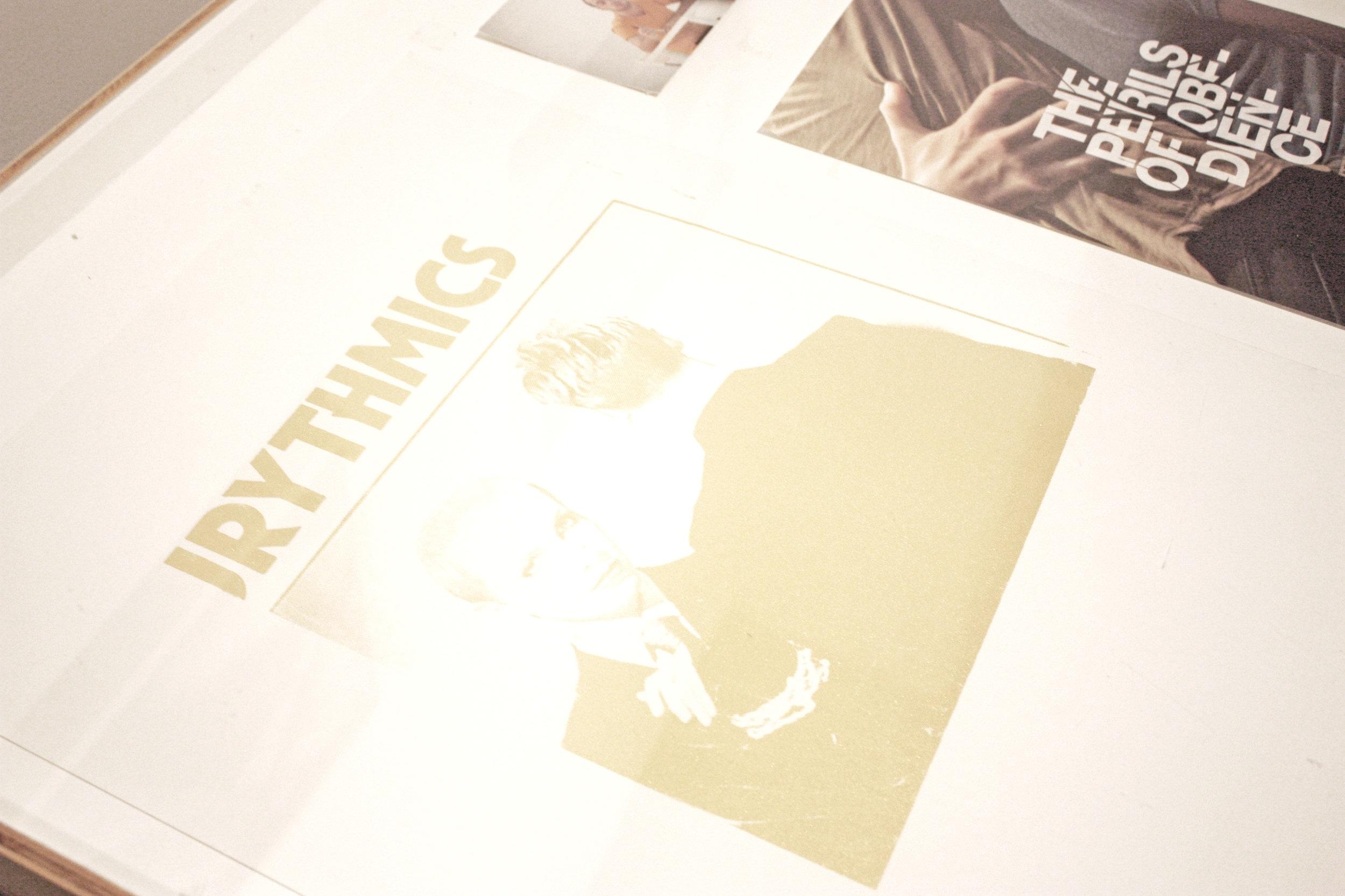 EURYTHMICS  Silkscreen on paper  57 x 38 cm  2017
