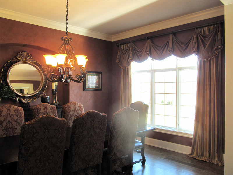 A luxurious sample of our custom drapery for a formal setting