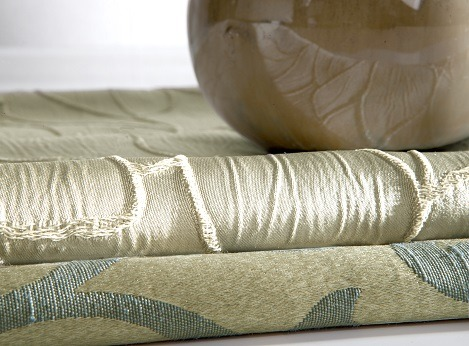 Gold Modern Drapery custom made by dePasquale Design