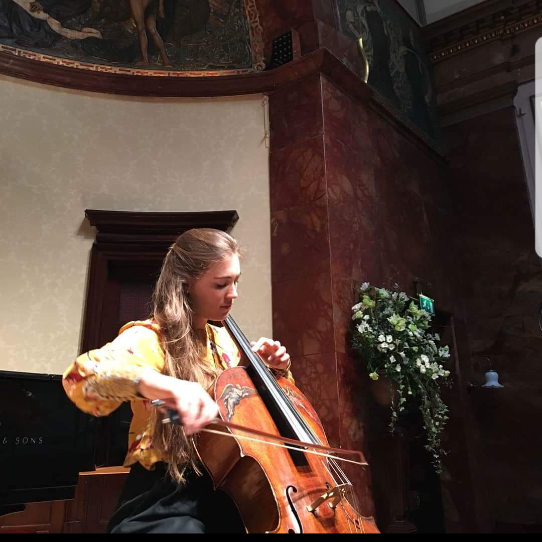 Nadège Rochat (cello) performing the piano and cello arrangement of Boyle's  Psalm  (1927), with Dearbhla Collins (piano). The orchestral arrangement of this work was recorded as part of the upcoming album. Arranged by Emma O'Keeffe.  Photo Credit:  Nadège Rochat   Facebook