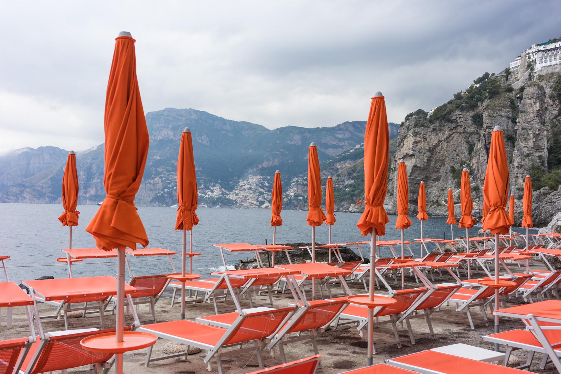 Playa de Praiano, justo debajo del hotel.