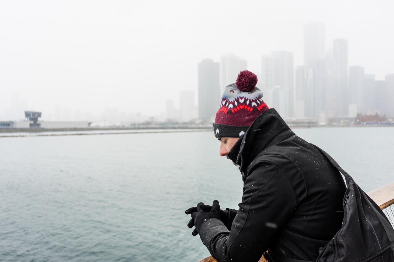nieve en Chicago