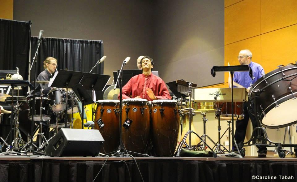 PASIC 2013 Showcase Concert with Neeraj Mehta, Jonathan Ovalle, and Anthony DiSanza  Photo credit: Caroline Tabah