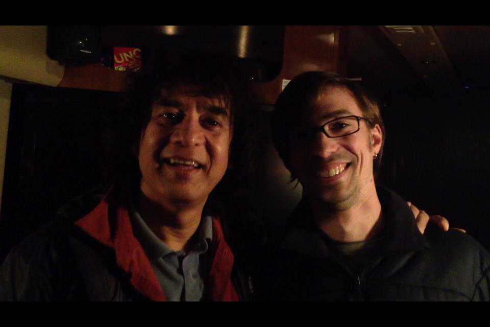 Dan with the great Zakir Hussain, 2012
