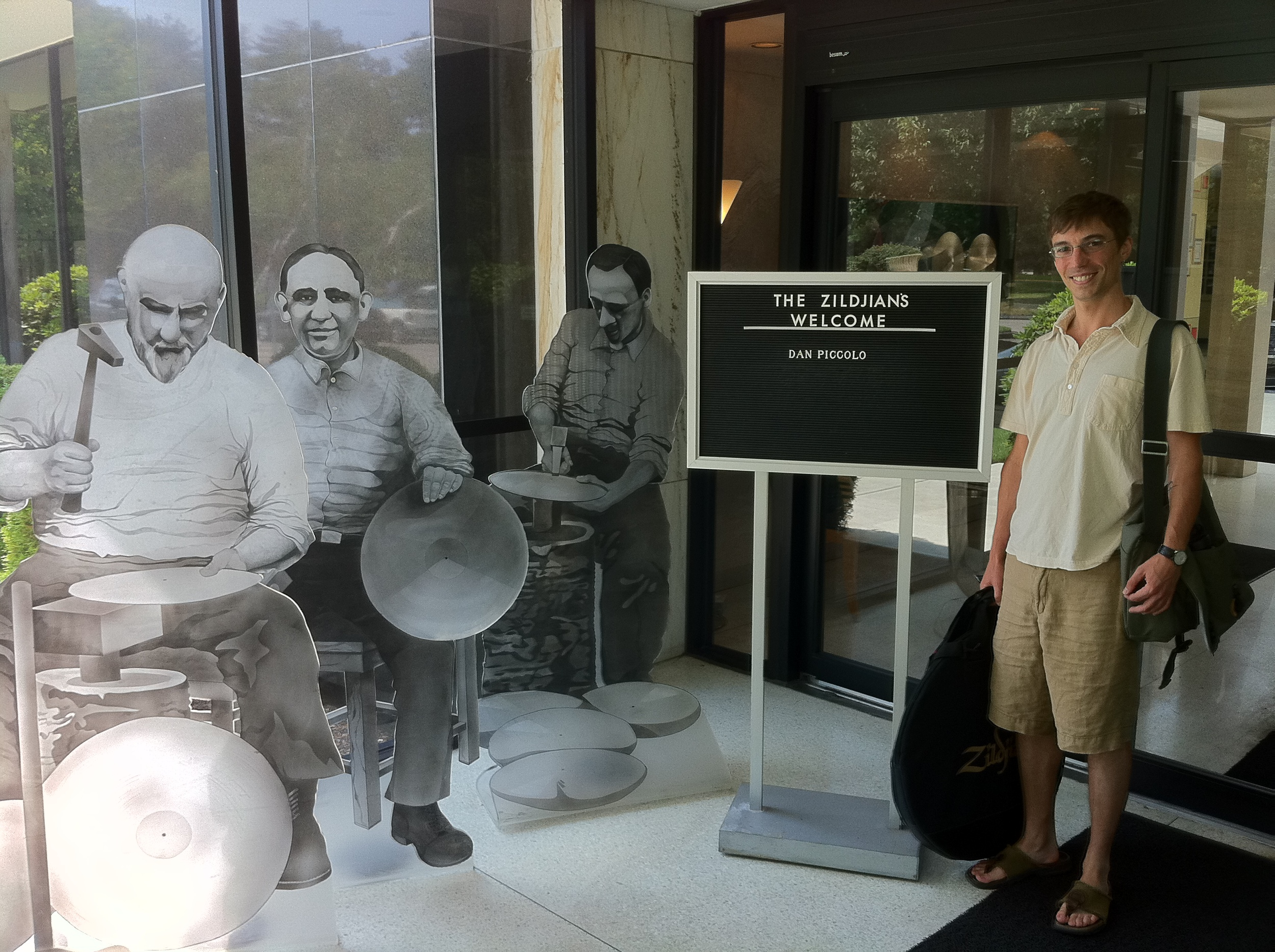 Visiting the Zildjian cymbal factory in Lowell, MA, 2011