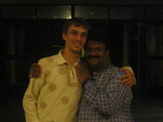 Dan with Pandit Kuber Nath Mishra, Varanasi, India, 2007
