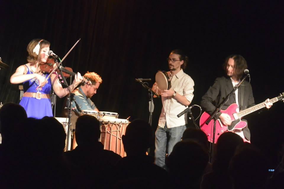 Dan making a guest appearance with The Ragbirds at The Ark, Ann Arbor MI, October 2014.