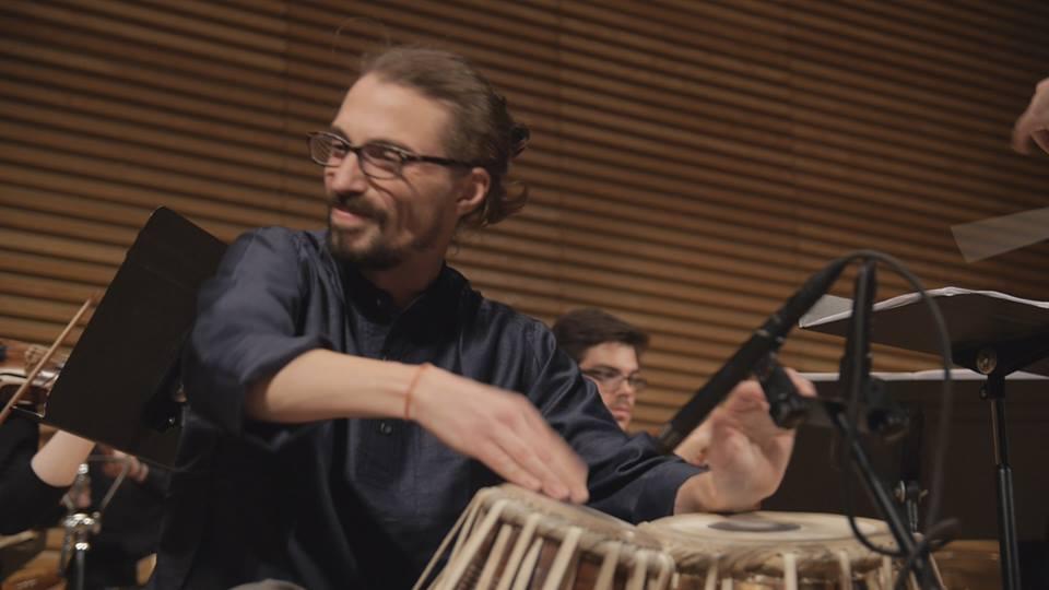 Performing Evan Ziporyn's Mumbai for tabla and orchestra, April 2015.