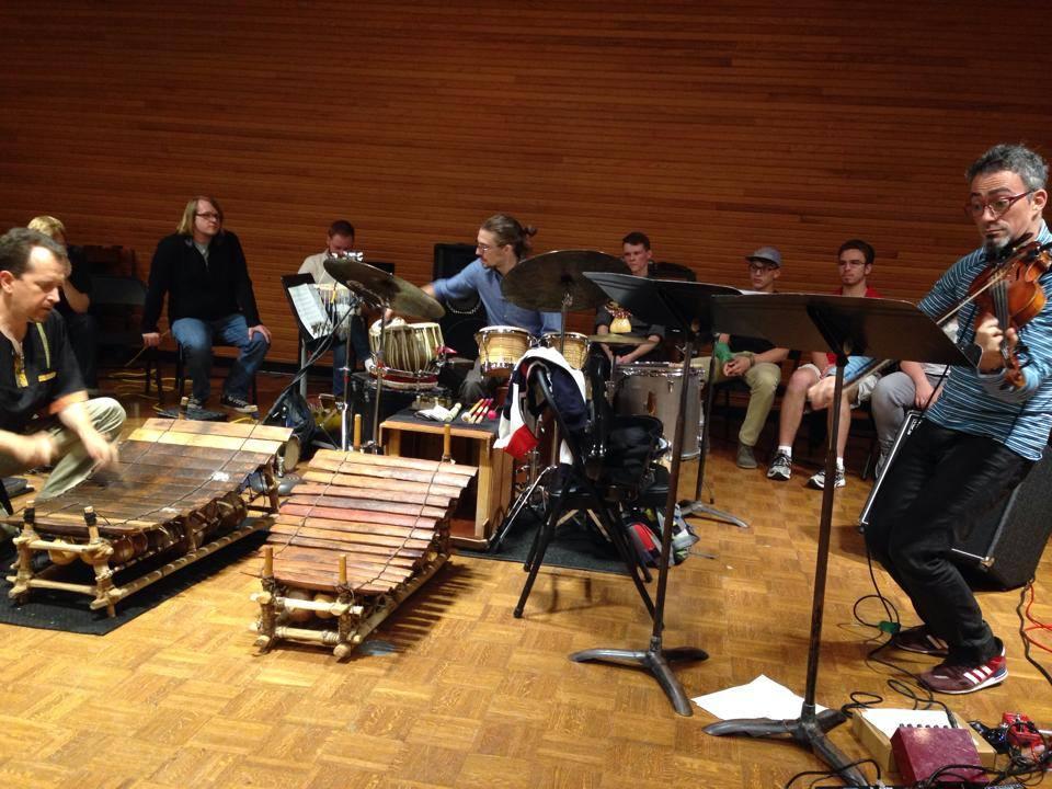 The Mark Stone Trio presenting a masterclass at Ohio University, October 2014.