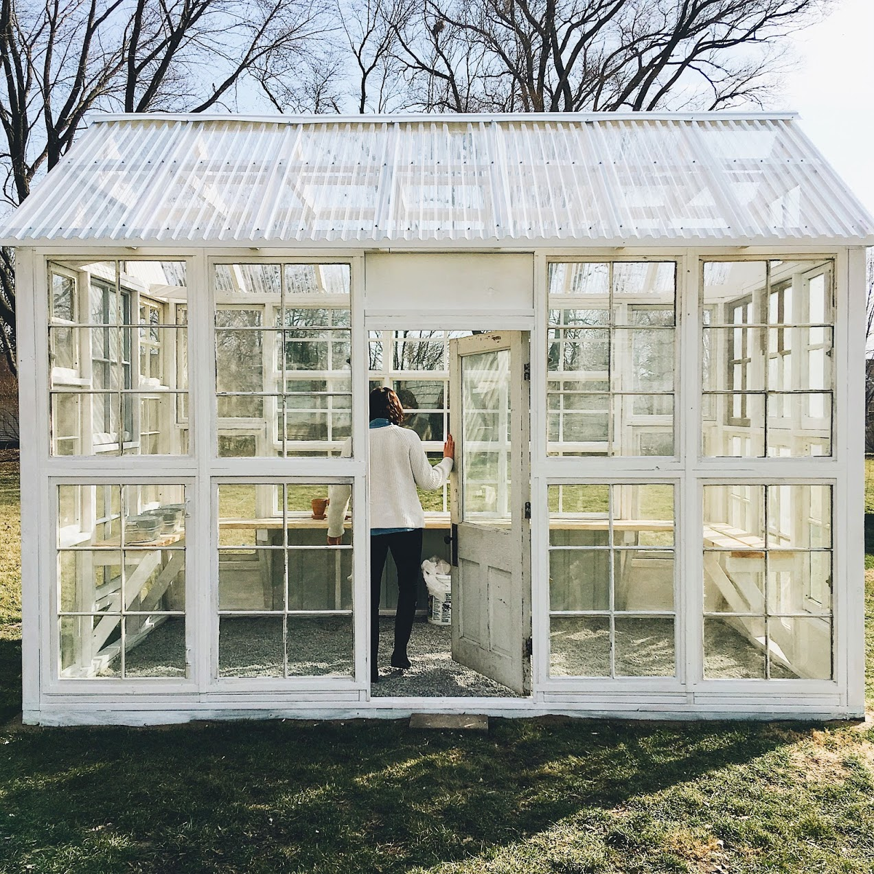 How We Built Our Greenhouse Under A Tin Roof