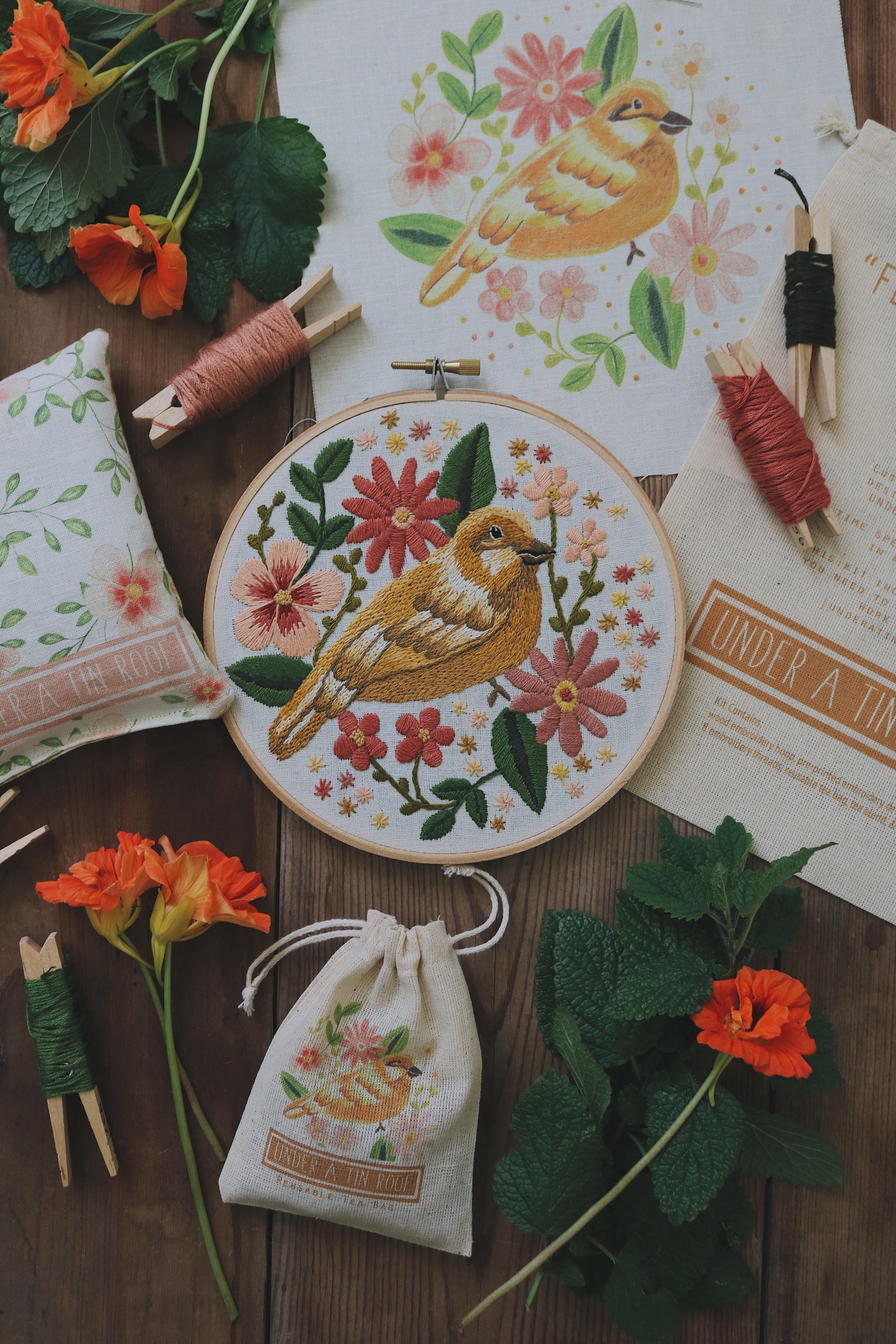 UATR Embroidery Club | October Introduction- Under A Tin Roof Blog