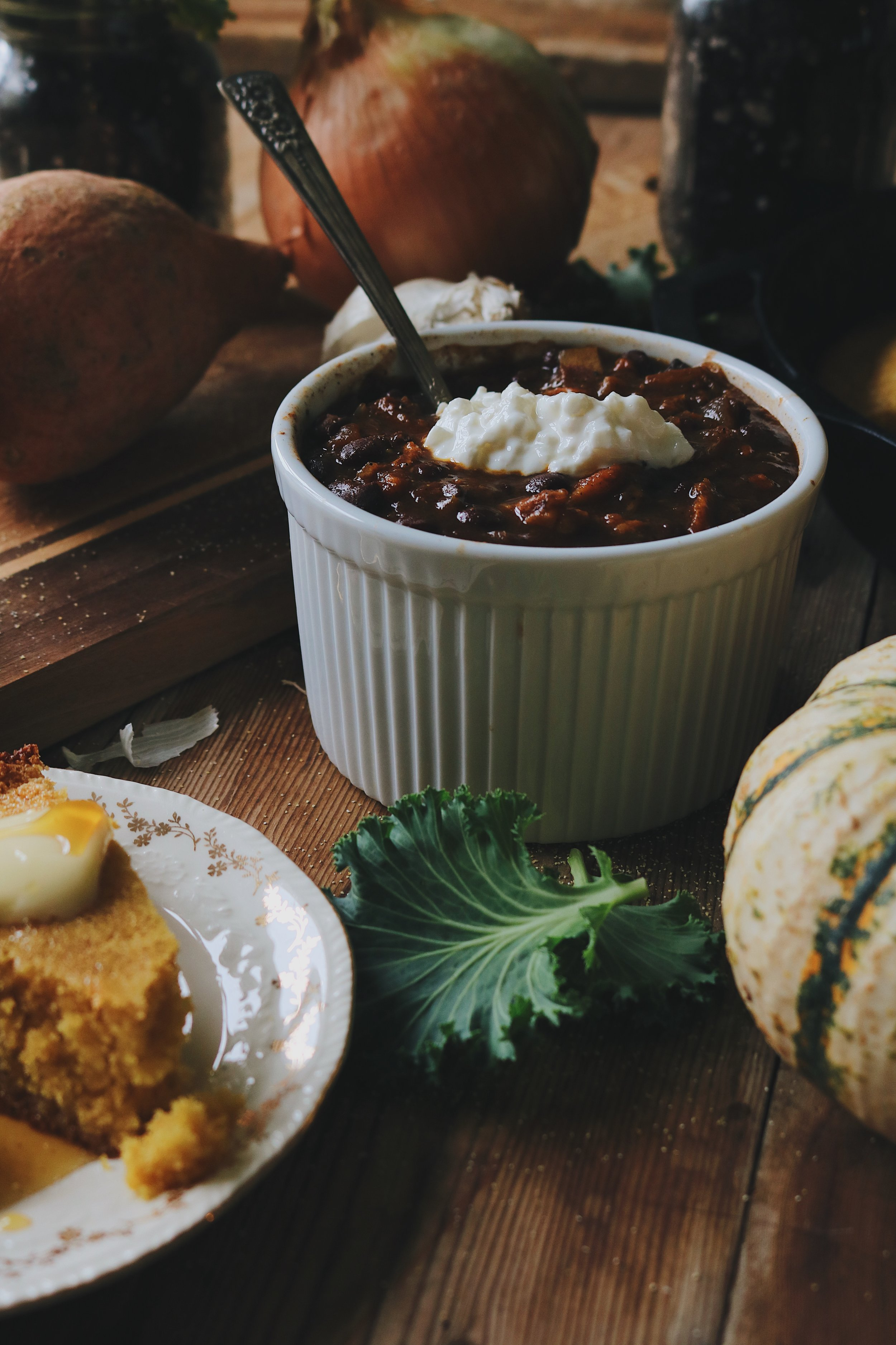 From the Garden | Sweet Potato + Black Bean Chili in a Crockpot - Under A Tin Roof Blog