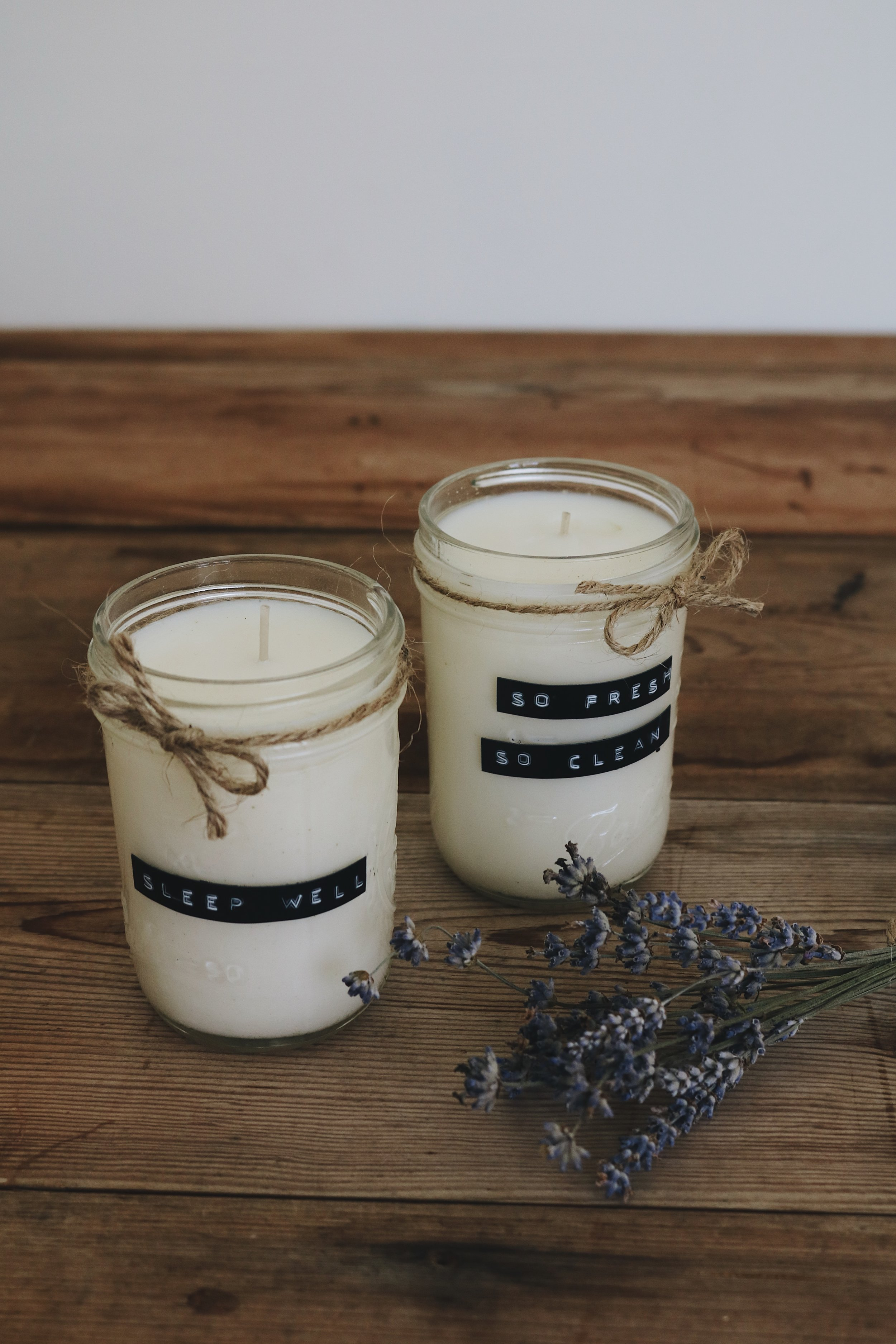 DIY Essential Oil Soy Candles — Under