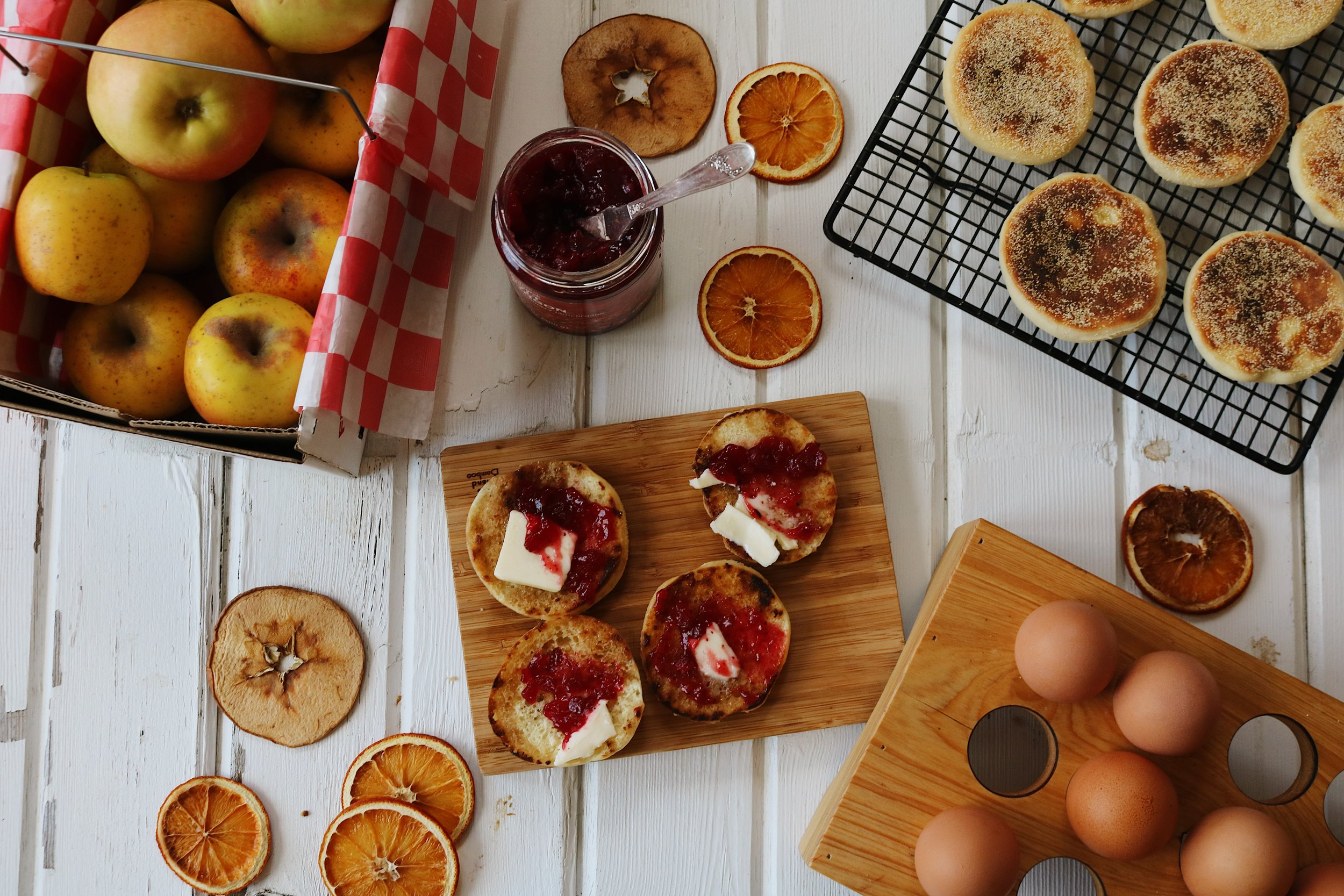 Colonial Kitchen | English Muffins - Under A Tin Roof Blog