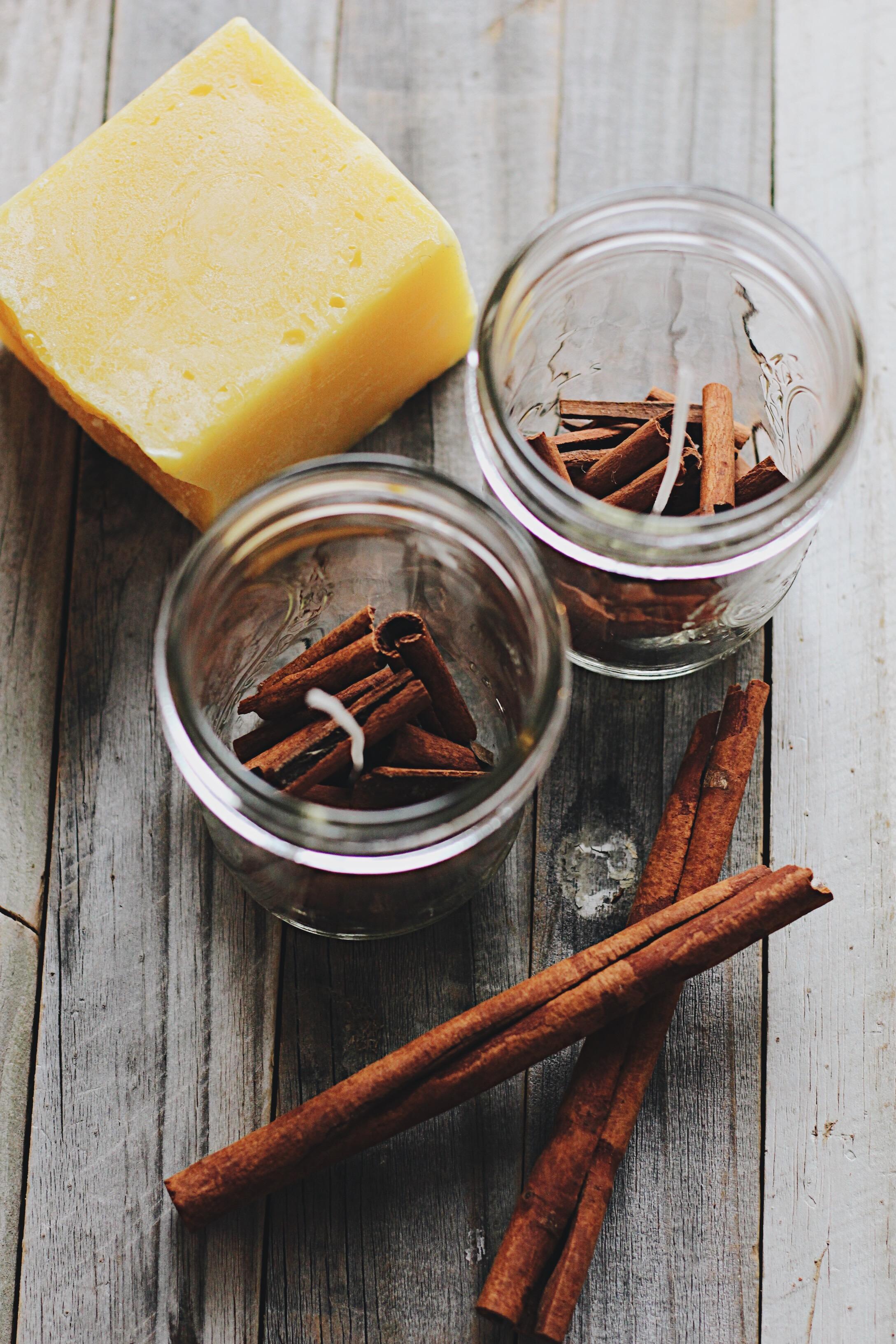 Cinnamon + Honey Beeswax Candles
