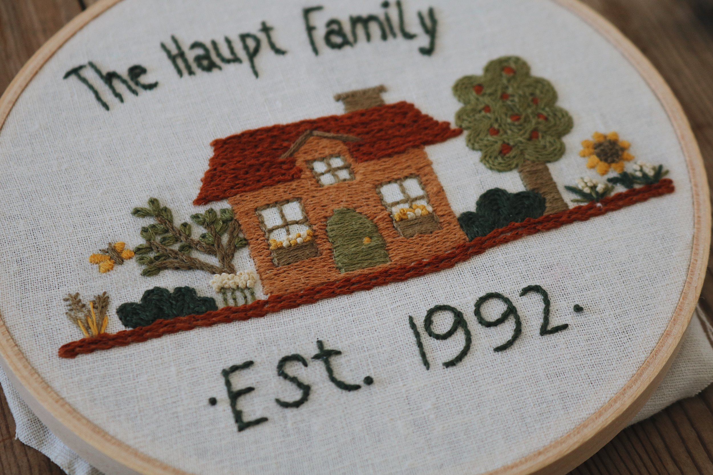 """UATR Embroidery Club   """"Our Little Home"""" Hoop Introduction + Info for the New Year!"""