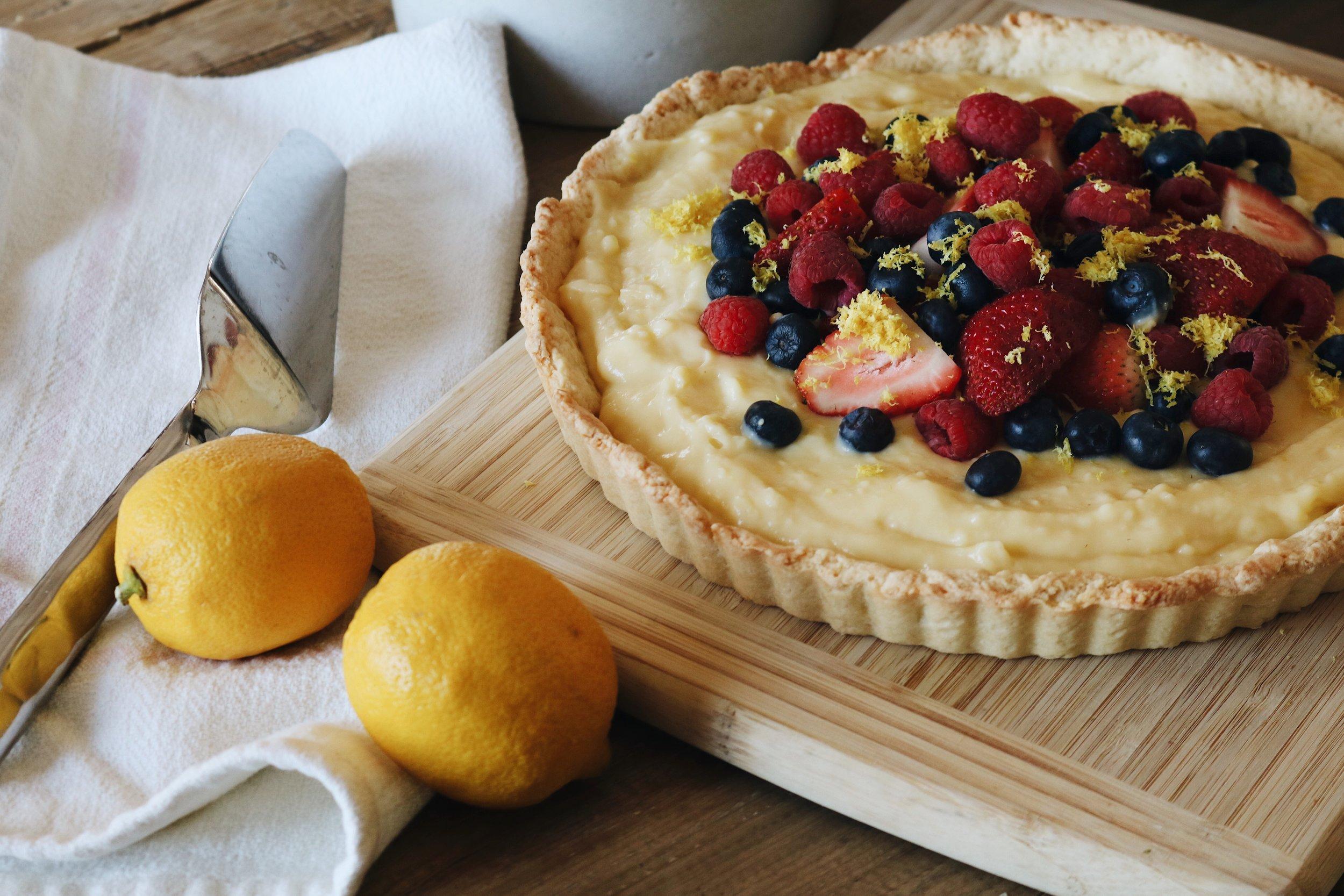Lemon Custard Tart - Under A Tin Roof Blog