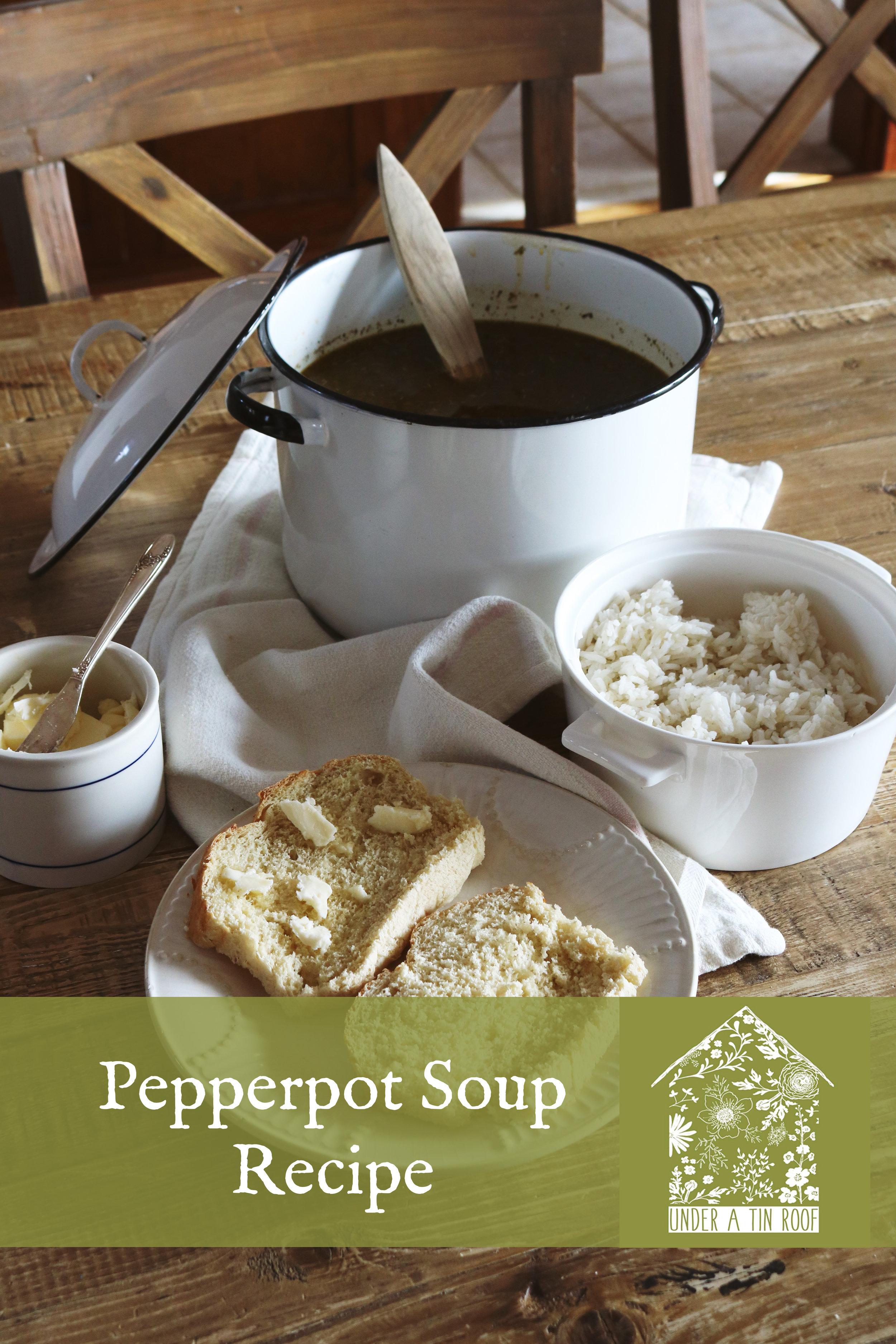 Pepper Pot Soup - Under A Tin Roof Blog