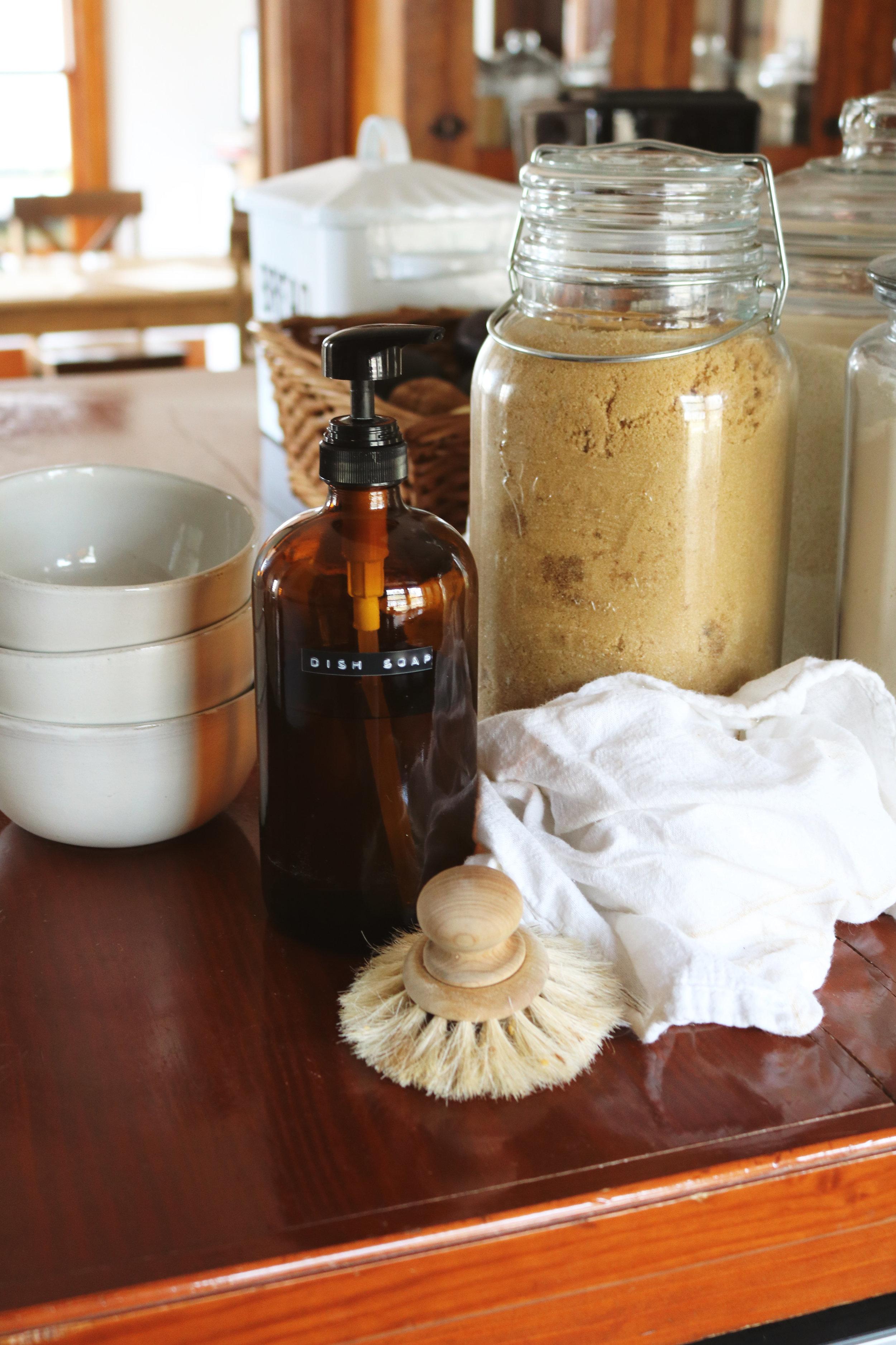 Homemade Natural Dish Soap - Under A Tin Roof Blog