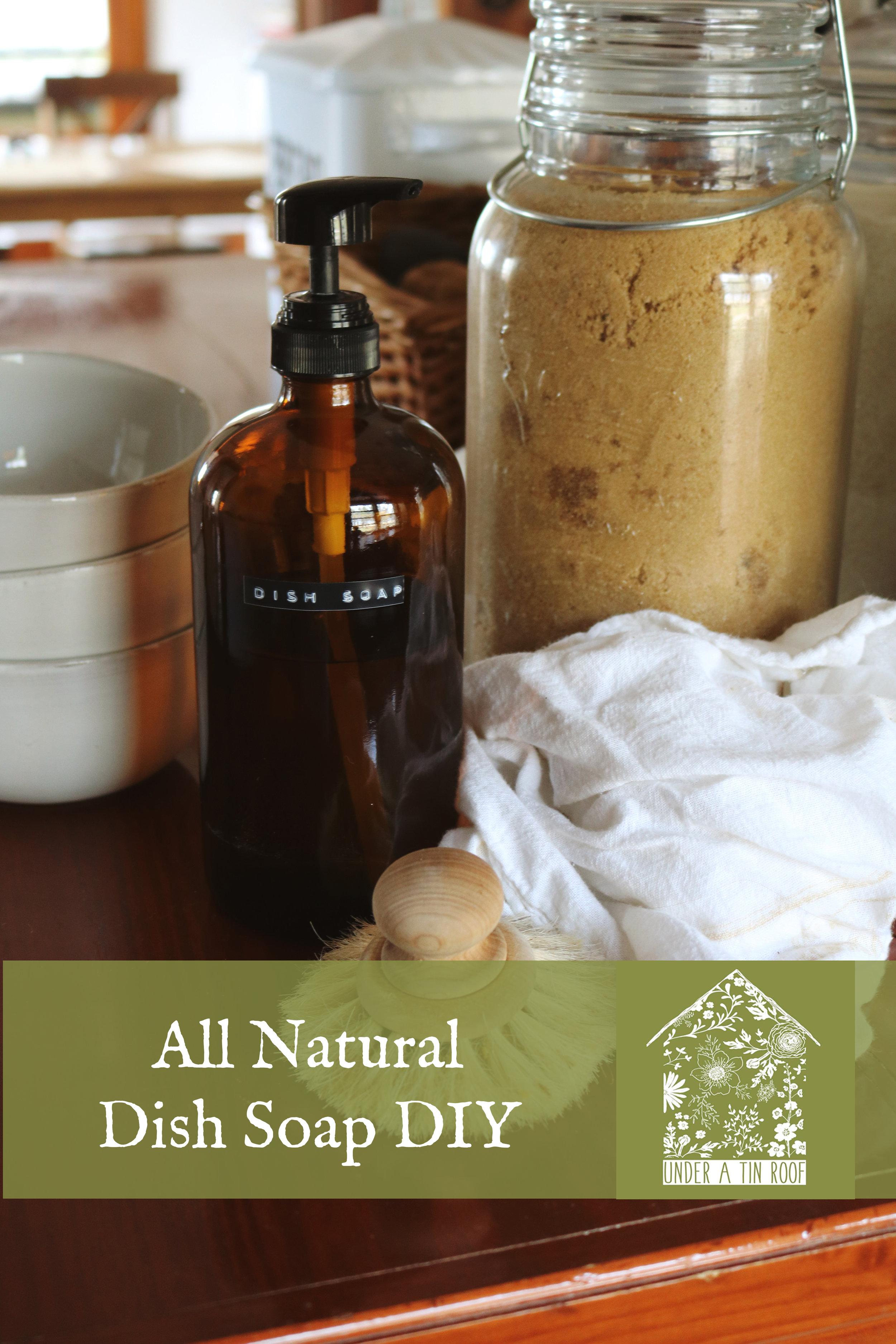Homemade Natural Dish Soap — Under A