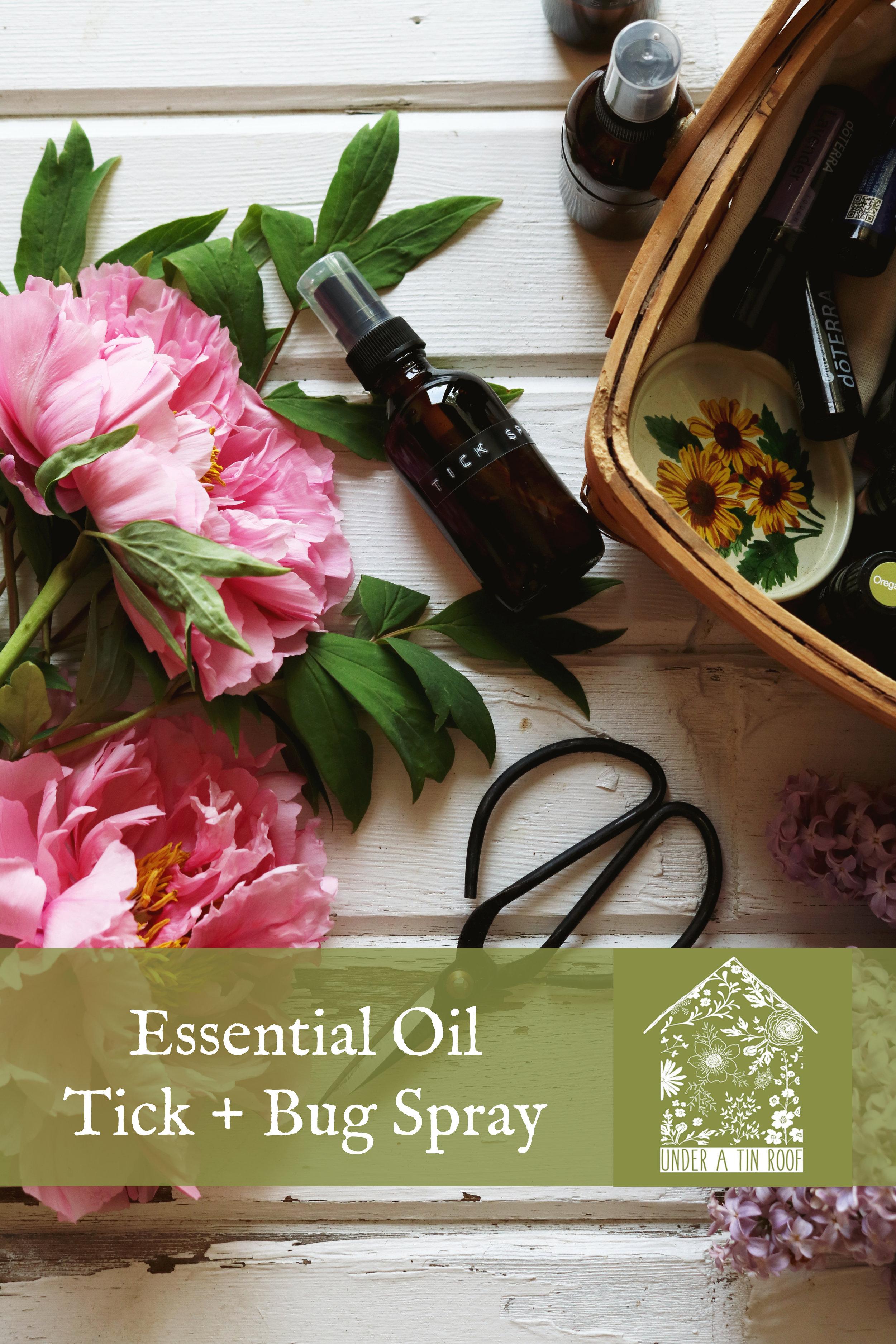 Essential Oil Tick Spray - Under A Tin Roof Blog