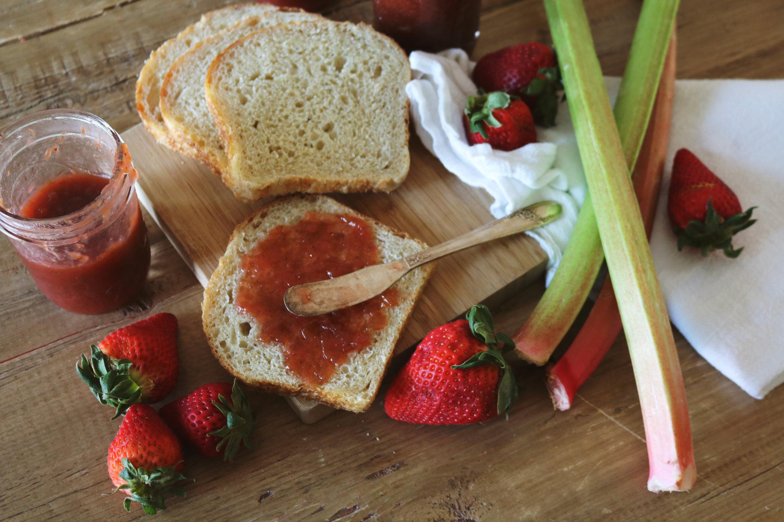 Strawberry Rhubarb Jam - Under A Tin Roof Blog