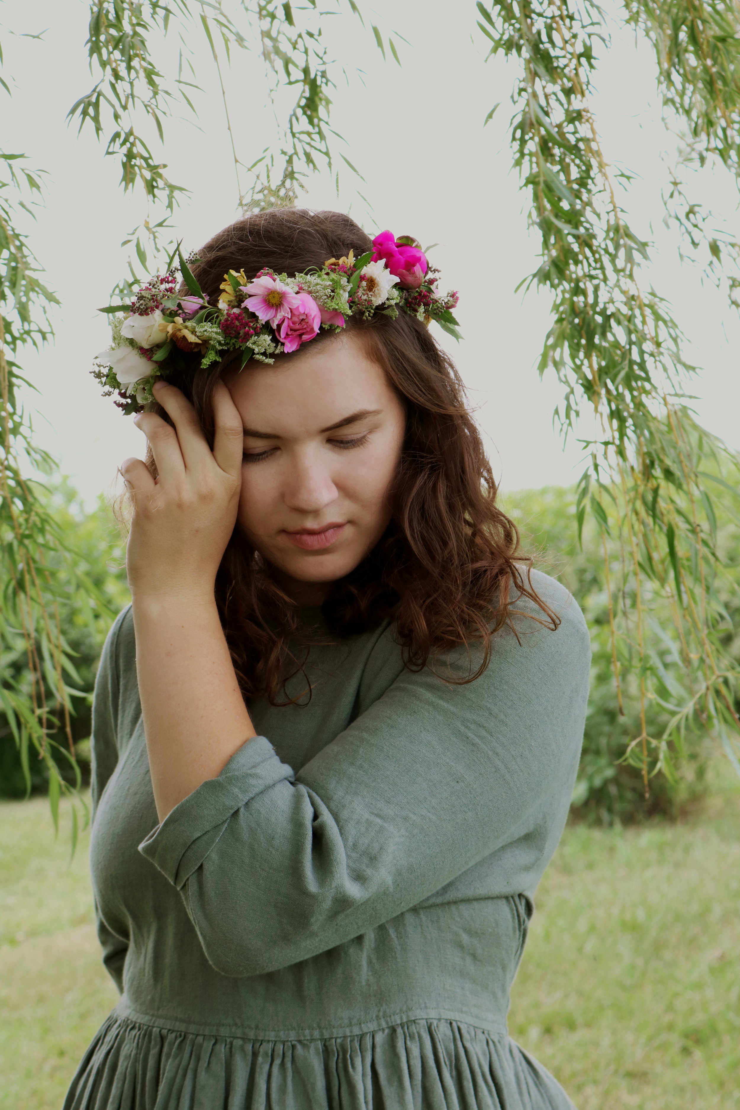 DIY Late Spring Flower Crown - Under A Tin Roof Blog