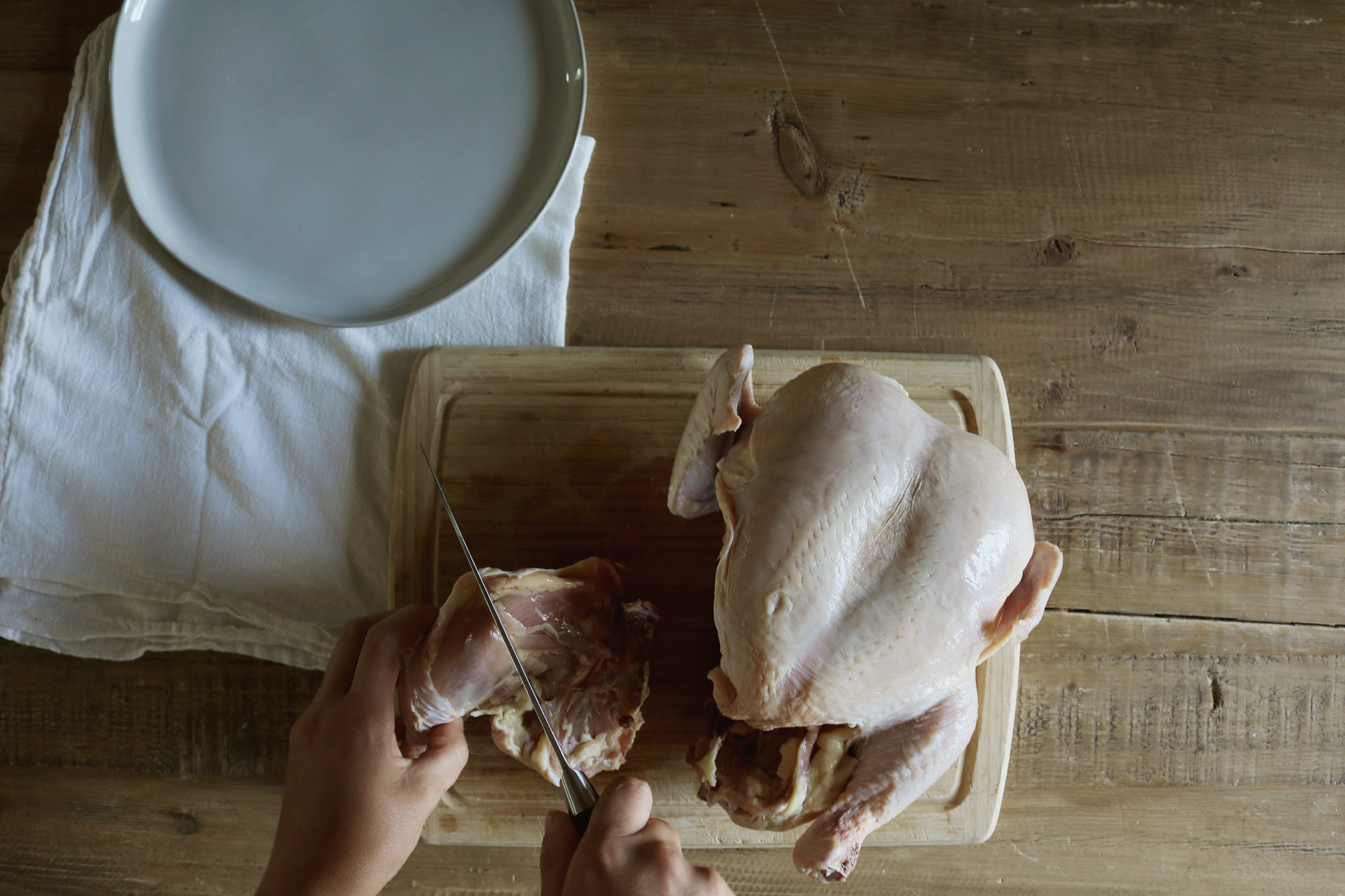 How to Cut a Whole Chicken - Under A Tin Roof Blog