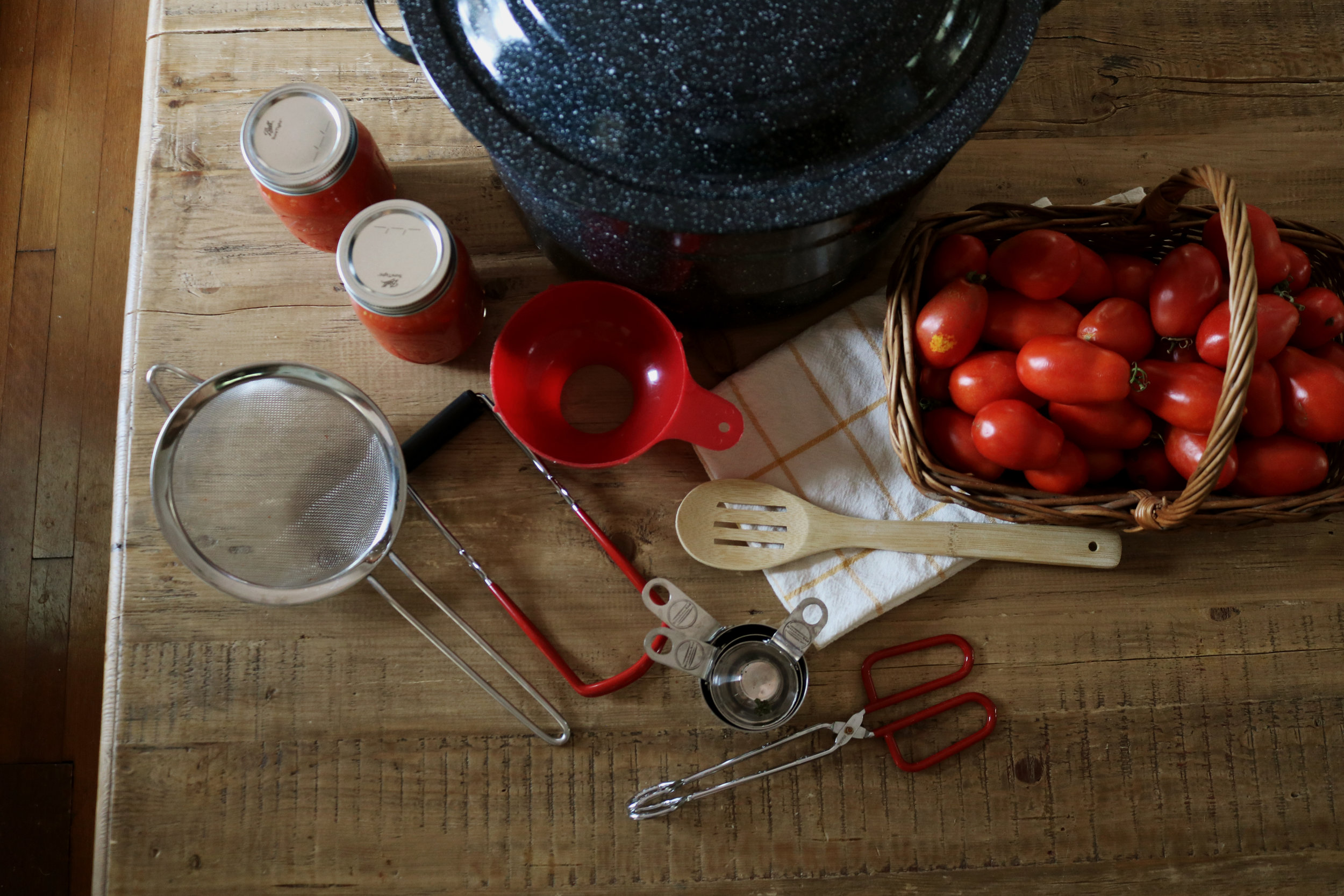 Canning Supplies and Preparation - Under A Tin Roof Blog