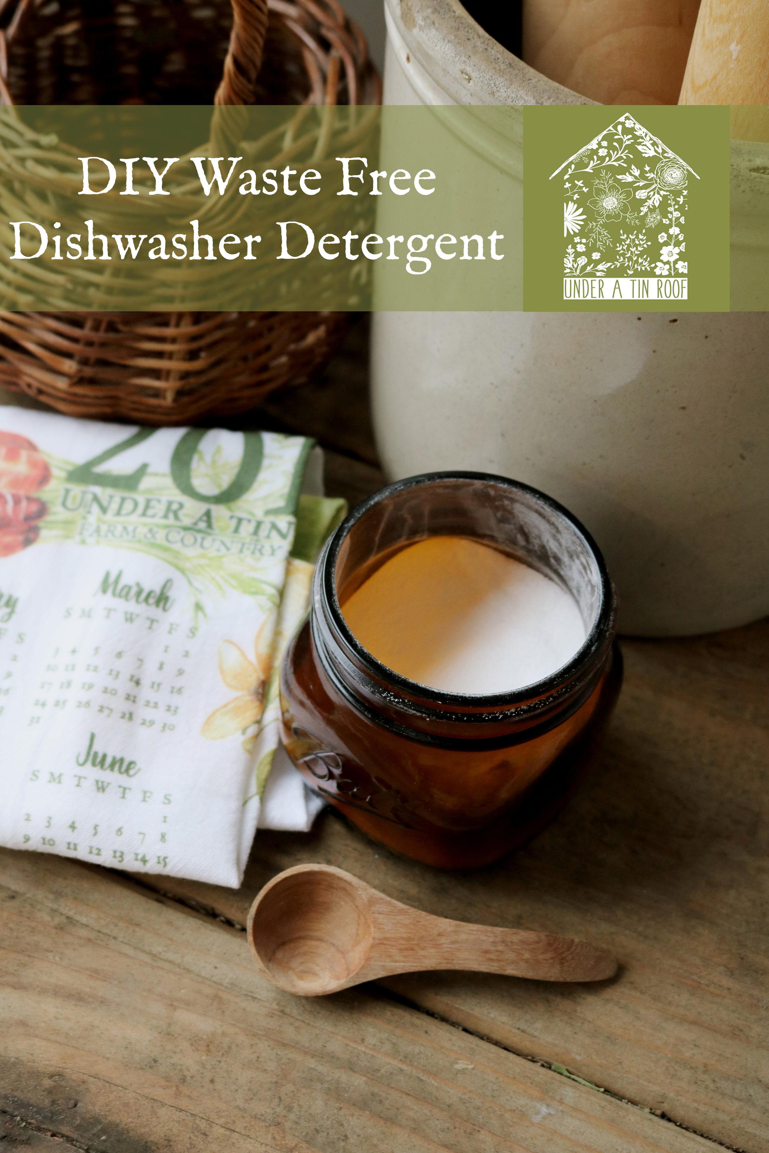 DIY Waste Free Dishwasher Detergent - Under A Tin Roof Blog