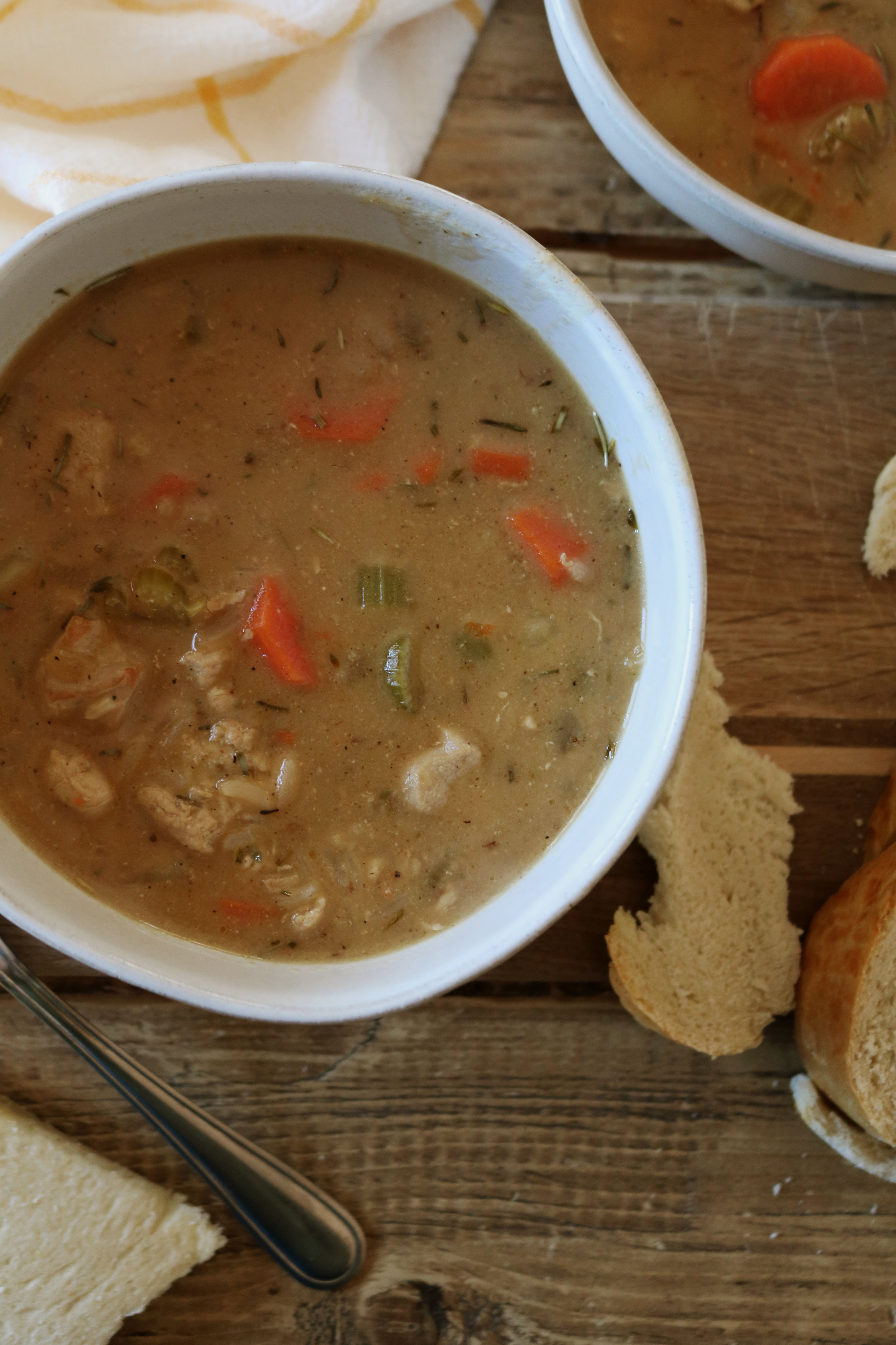 Pheasant and Wild Rice Soup - Under A Tin Roof Blog