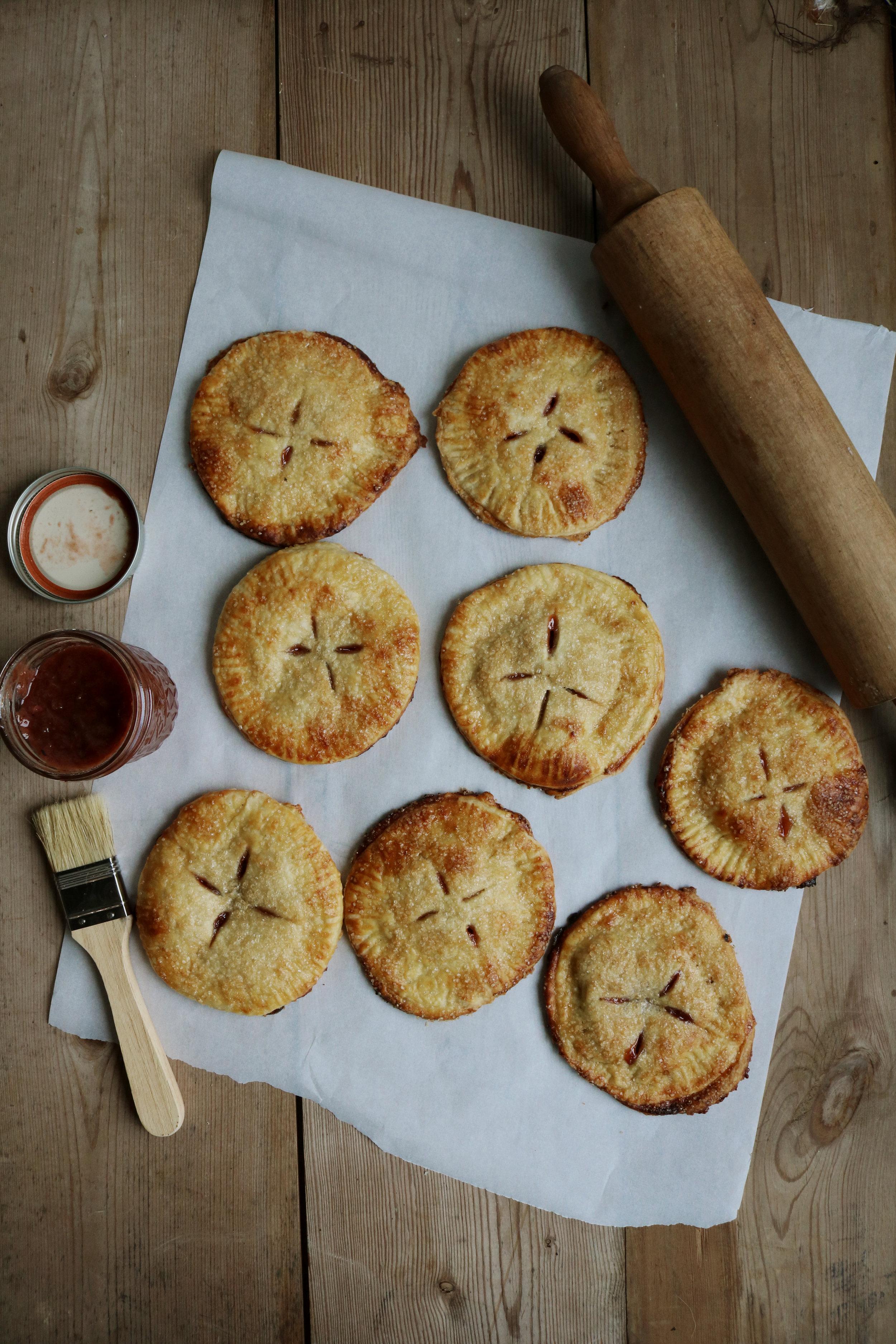Strawberry Rhubarb Jam Hand Pies - Under A Tin Roof Blog