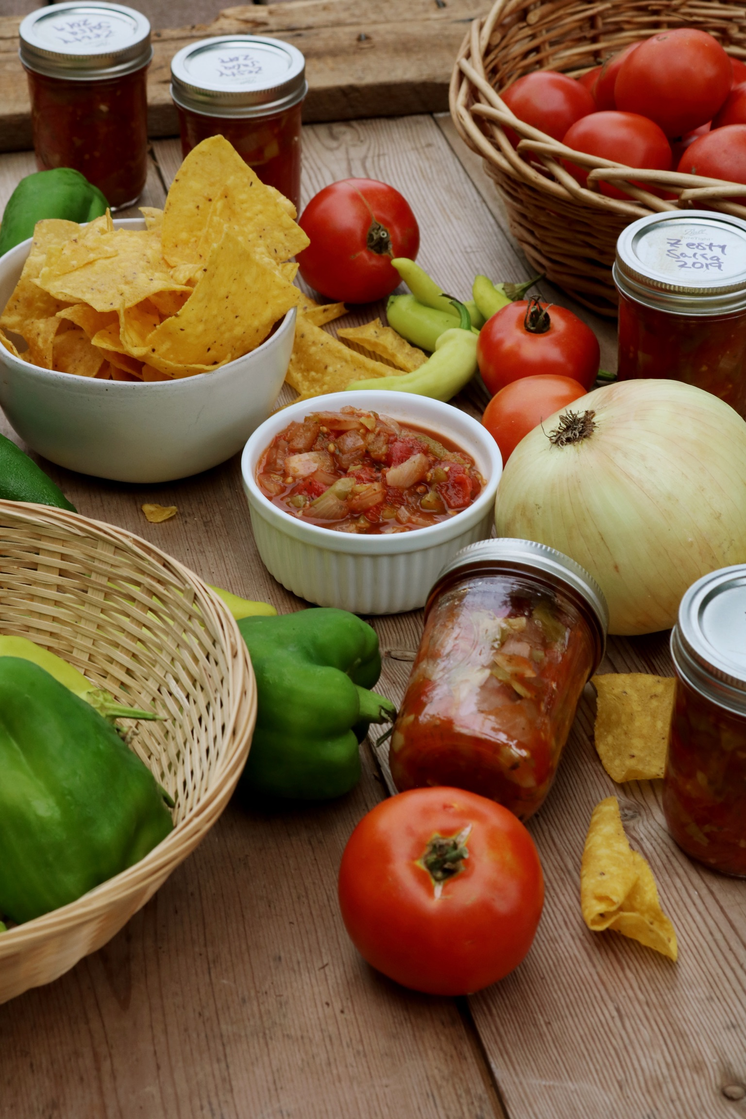 Zesty Salsa & Canning Recipe - Under A Tin Roof Blog