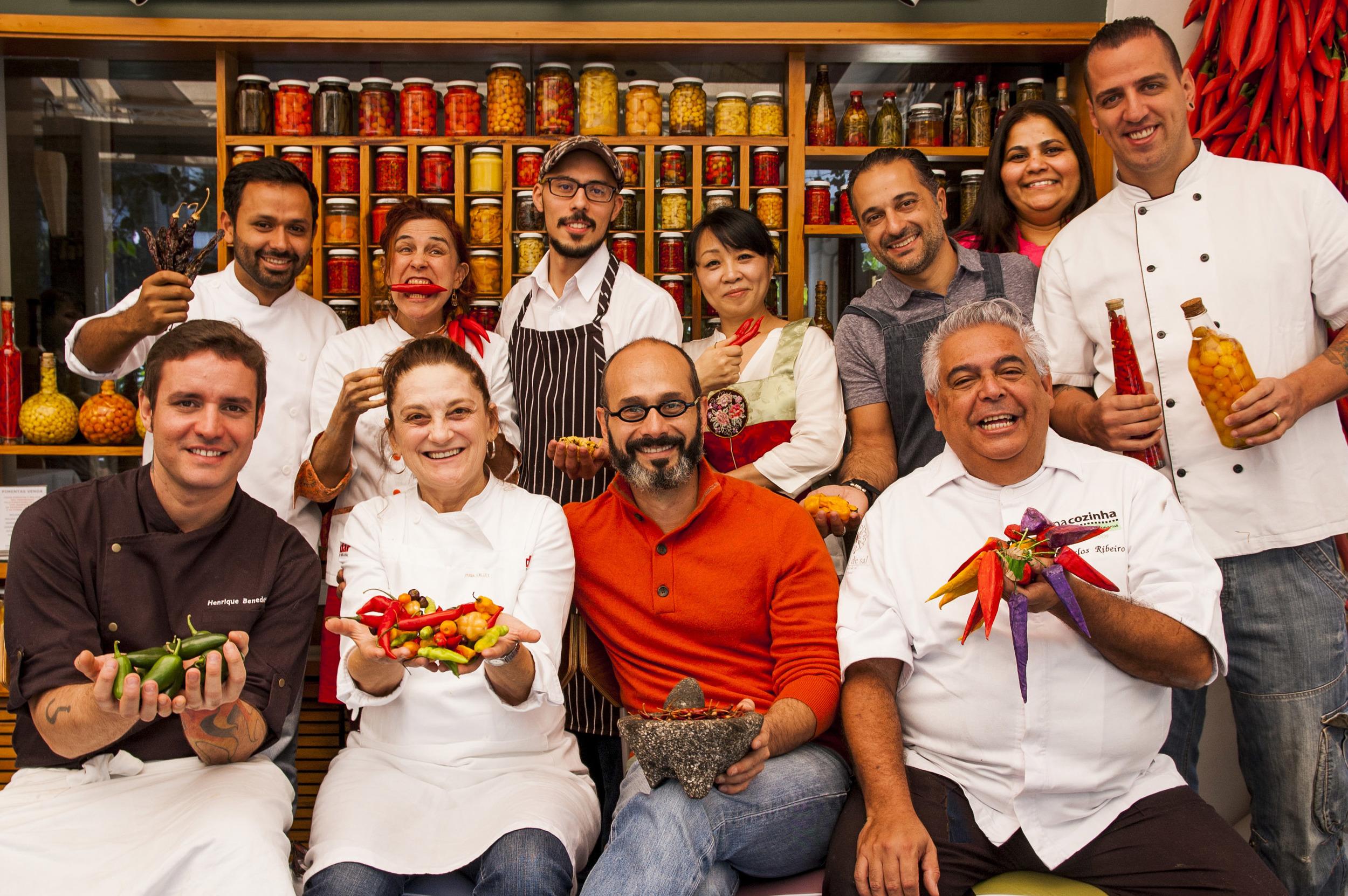 Chefs participantes da 4a edição do Festival da Pimenta