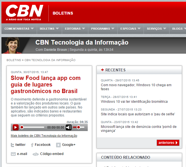 CBN - Slow Food