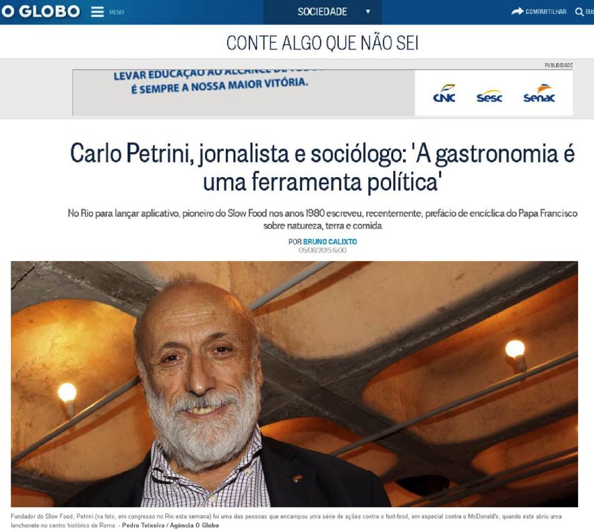 Slow Food - O Globo Online