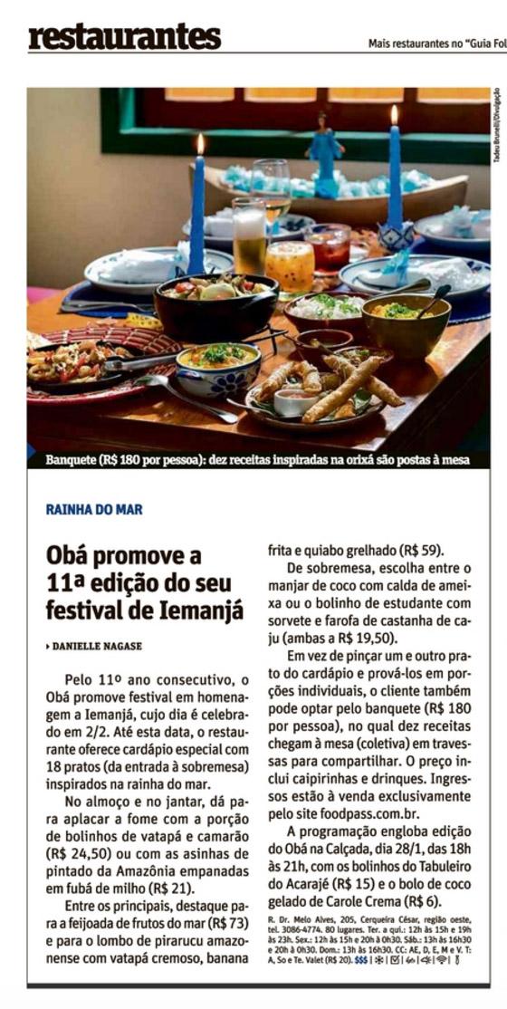 Revista Sãopaulo - Obá