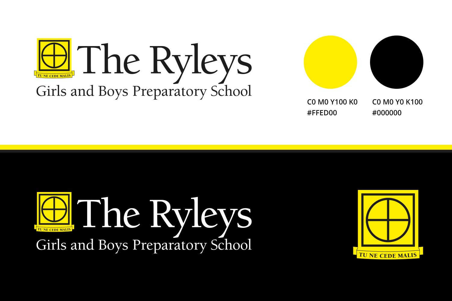 The new branding has a modern feel and incorporates the move to a mixed school