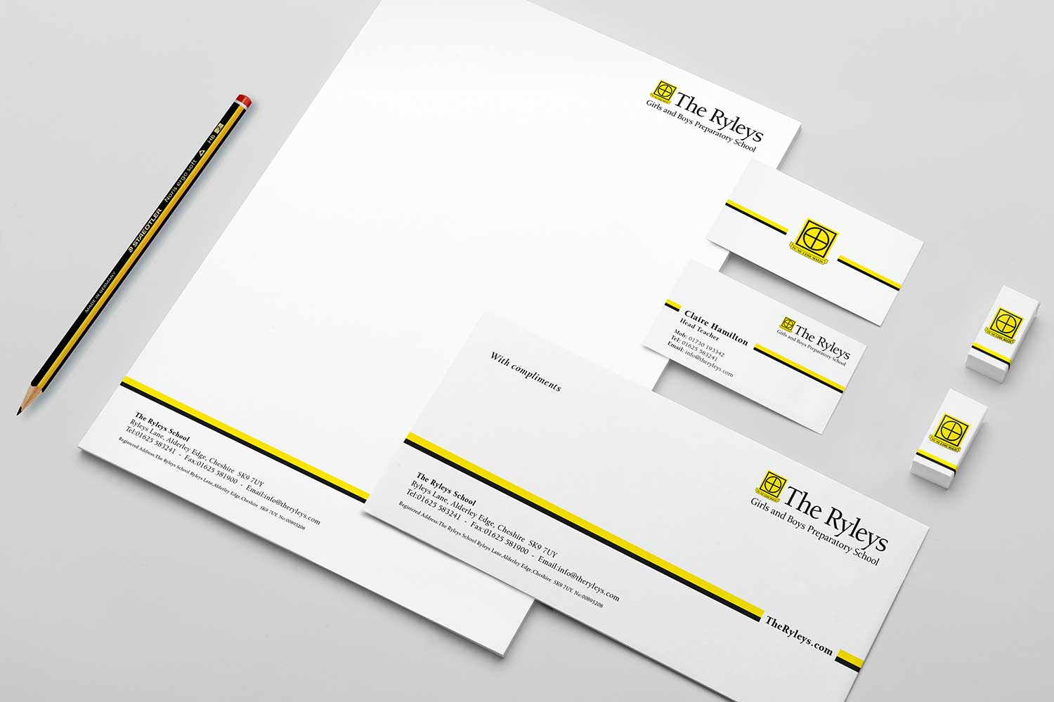 Stationery material.