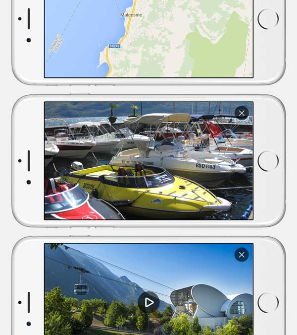 All maps, images and video are viewed in landscape orientation.